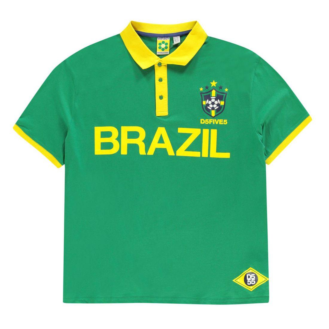 39b41631ca3 D555 Silva Brazil Polo Shirt Mens Gents Classic Fit Tee Top Short ...