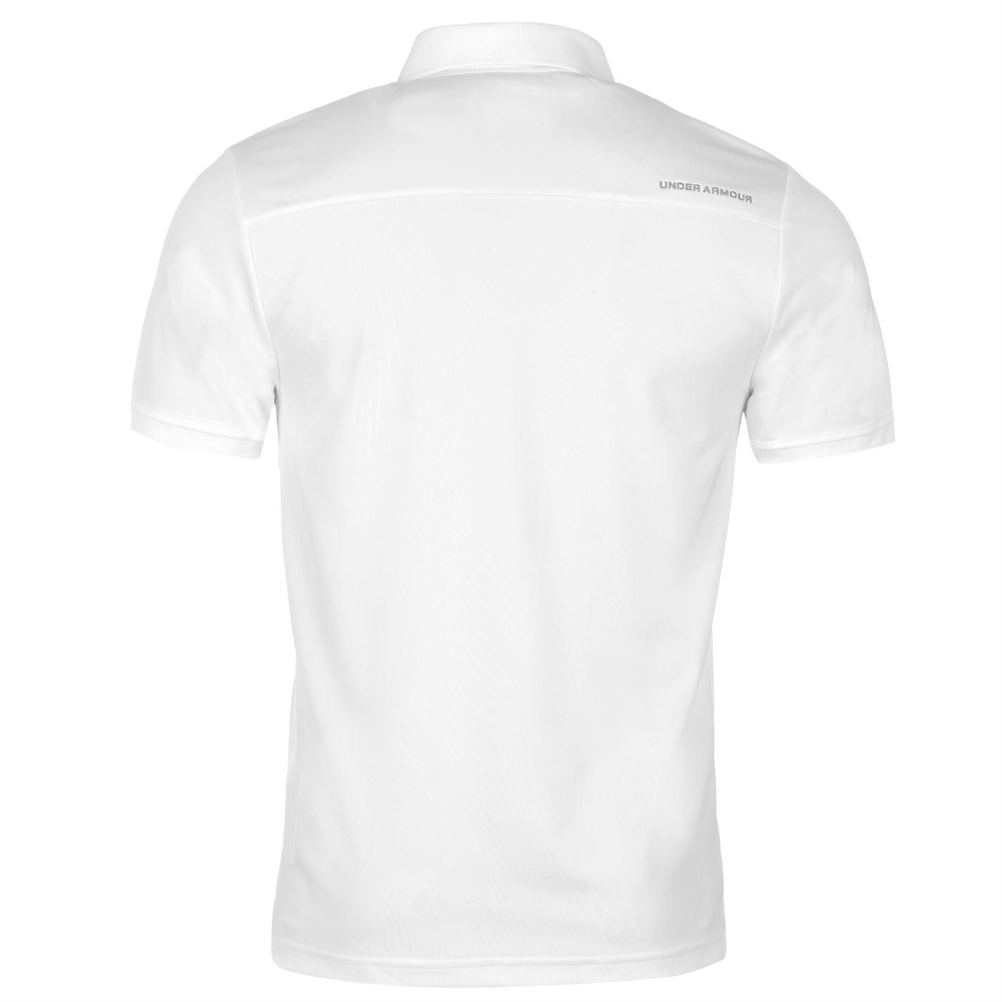 Under-Armour-Camiseta-Polo-para-hombre-realizar-Manga-Corta-Camiseta-Top-Golf-Deportes miniatura 31