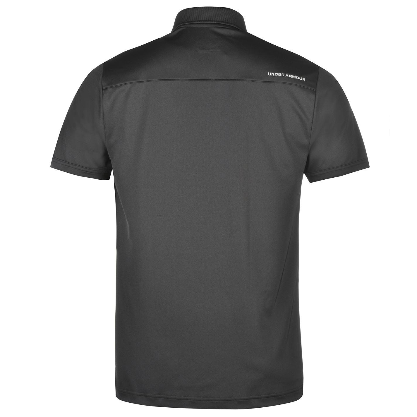 Under-Armour-Camiseta-Polo-para-hombre-realizar-Manga-Corta-Camiseta-Top-Golf-Deportes miniatura 16