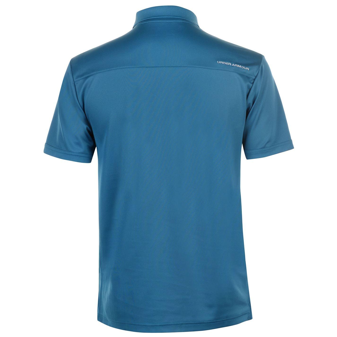 Under-Armour-Camiseta-Polo-para-hombre-realizar-Manga-Corta-Camiseta-Top-Golf-Deportes miniatura 28