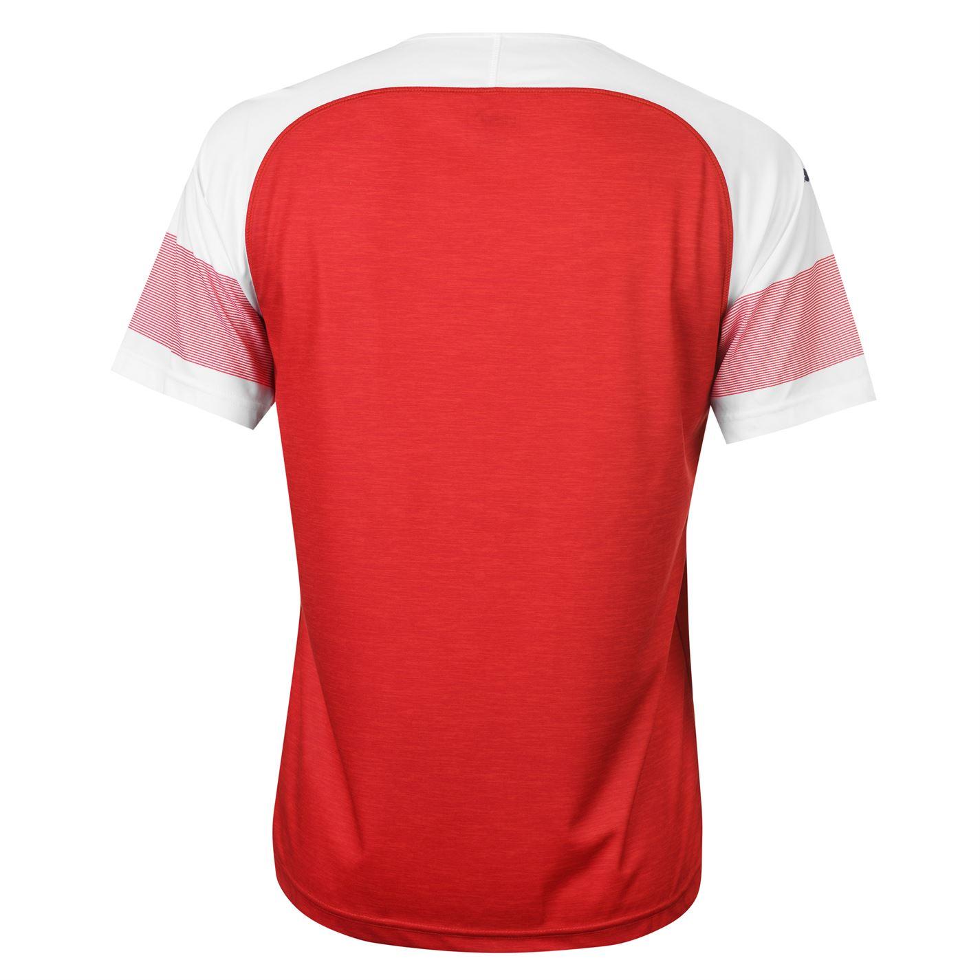 Domestique Shirt Home Blanc Rouge Hommes 2018 V Col Courtes Arsenal Puma 2019 Manches wATq0OxK