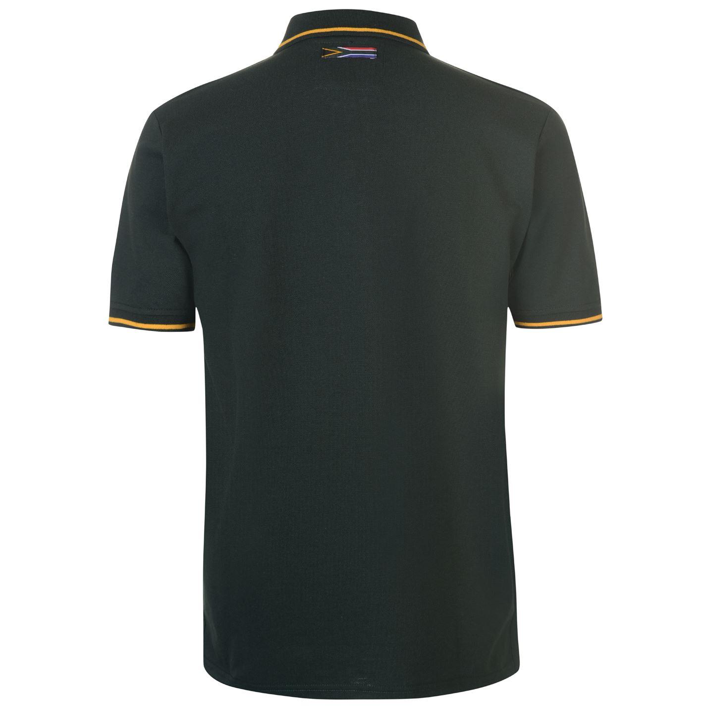 d7d2e4695b6 Team Rugby South Africa Polo Shirt Mens Gents Tee Top Short Sleeve ...