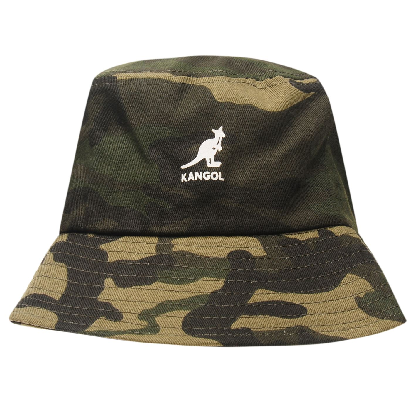 f32feda15b3 Kangol Mens Camouflage Bucket Hat Cotton Pattern
