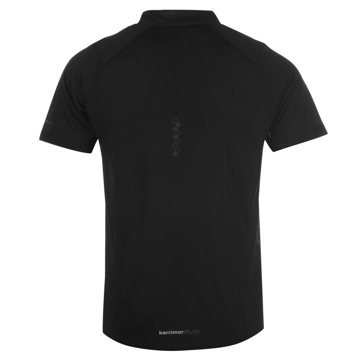 Karrimor-Correr-Mens-X-Cremallera-Camiseta-Camiseta-Top-Transpirable-Ligero-Mentonera miniatura 9