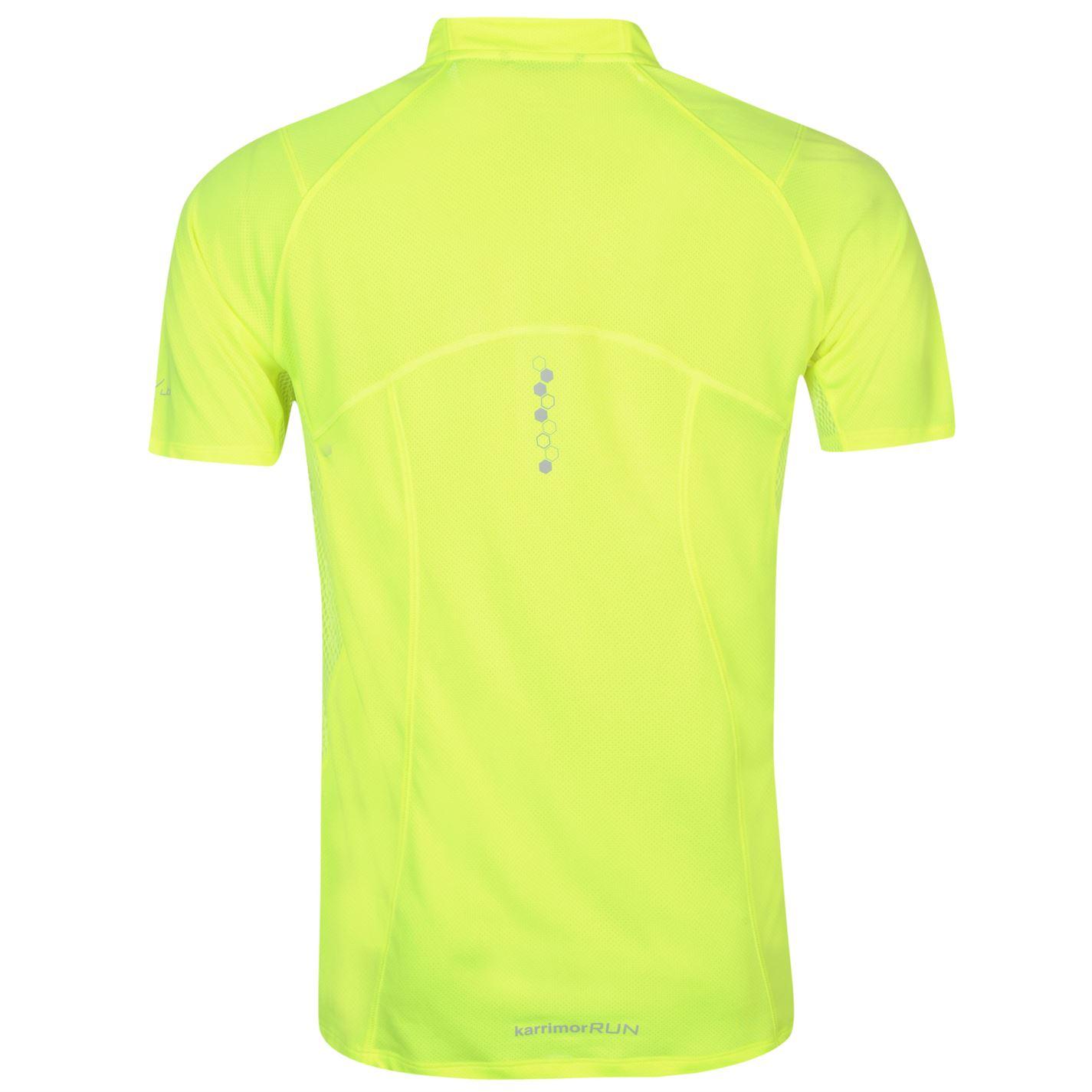 Karrimor-Correr-Mens-X-Cremallera-Camiseta-Camiseta-Top-Transpirable-Ligero-Mentonera miniatura 12