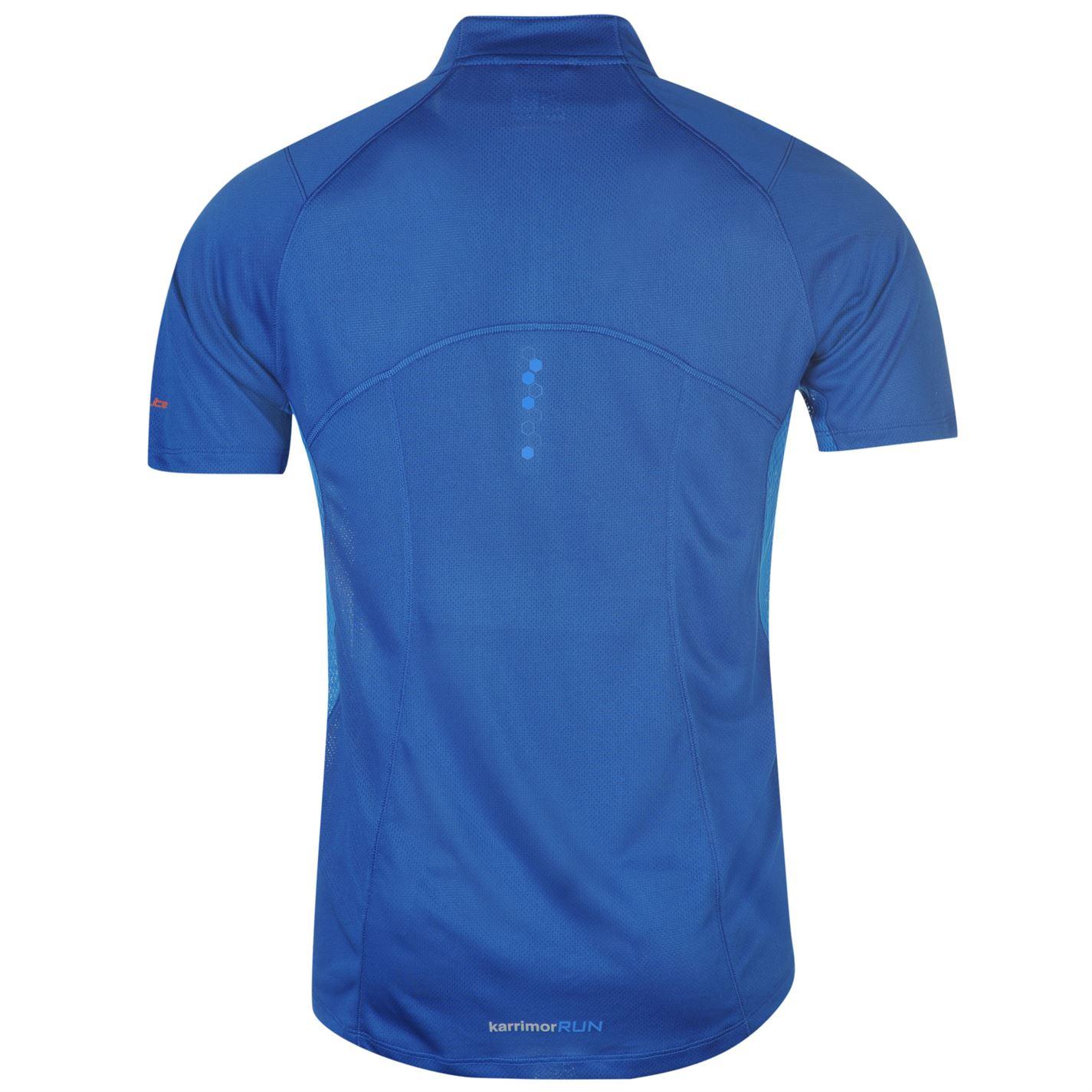 Karrimor-Correr-Mens-X-Cremallera-Camiseta-Camiseta-Top-Transpirable-Ligero-Mentonera miniatura 15