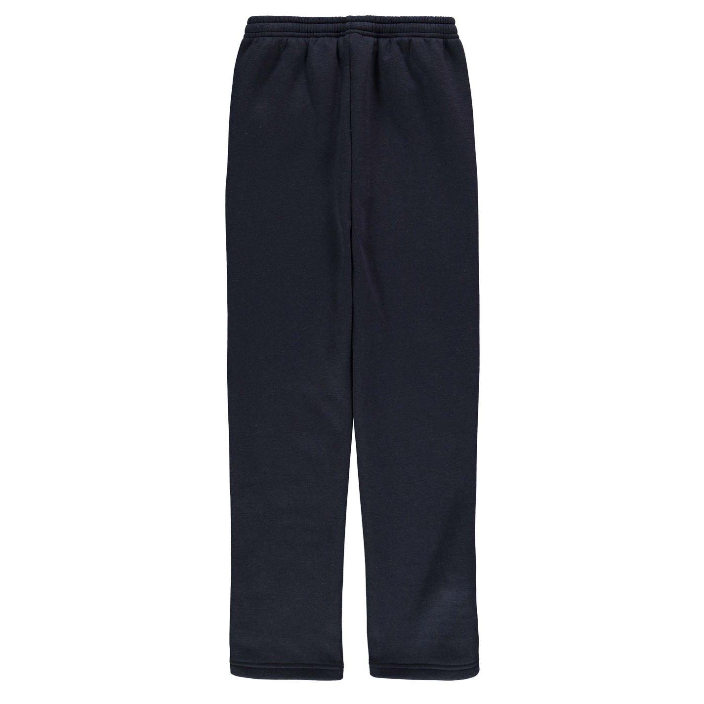 ad0543299391 Slazenger Kids Boys Open Hem Fleece Pants Junior Jogging Bottoms ...