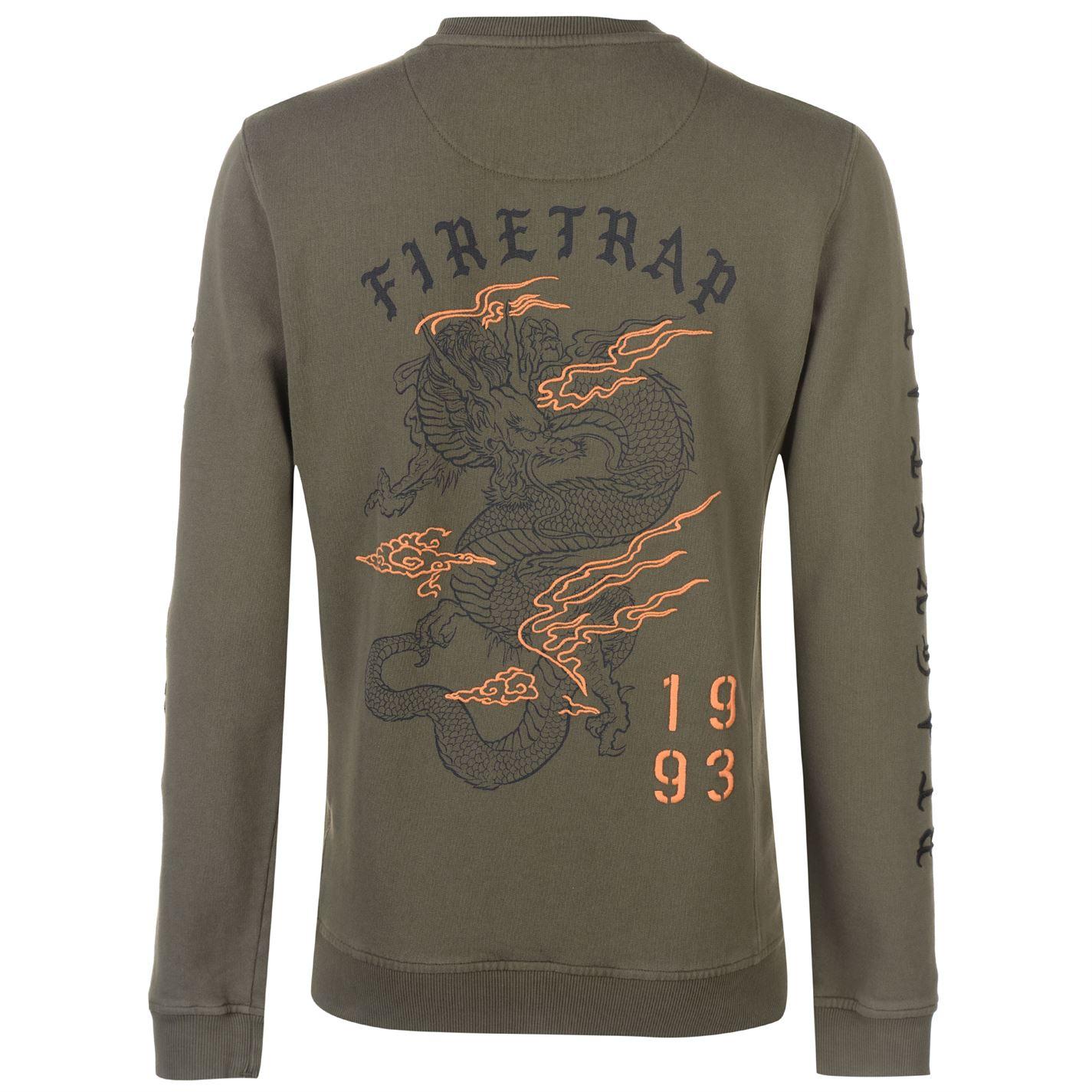 uomo maglione girocollo Crew Dragon da Swt Pullover maglione U4Rw1nIx