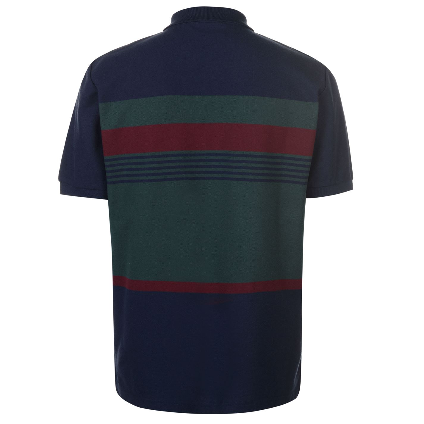 Lonsdale-Mens-Stripe-Polo-Shirt-Classic-Fit-Tee-Top-Short-Sleeve-Button-Placket thumbnail 8
