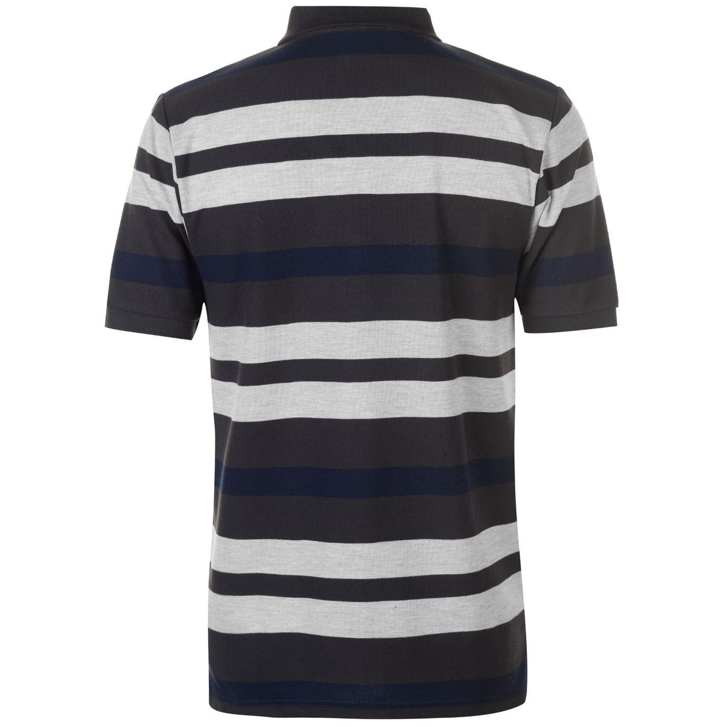 Lonsdale-Mens-Stripe-Polo-Shirt-Classic-Fit-Tee-Top-Short-Sleeve-Button-Placket thumbnail 11