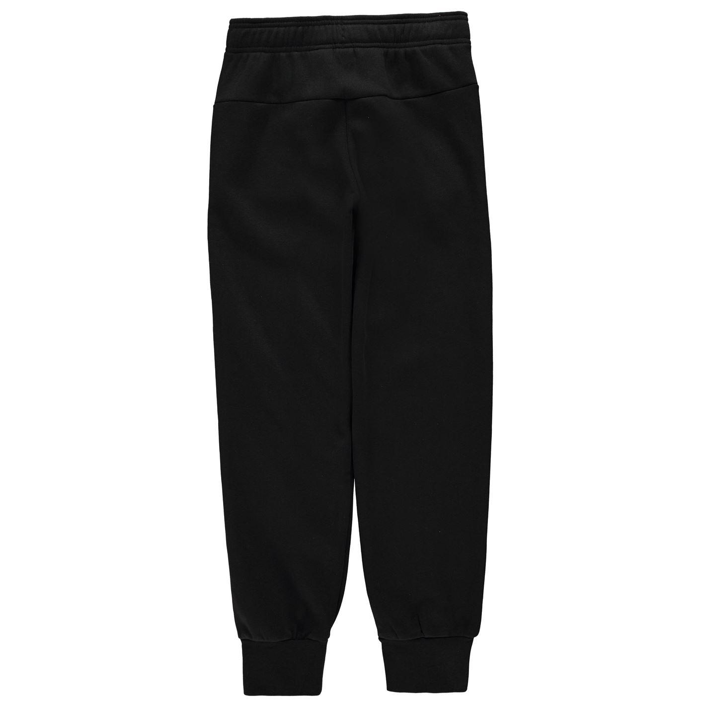 f7b4a5109c8b adidas Kids Girls Linear Jogging Pants Junior Fleece Bottoms ...