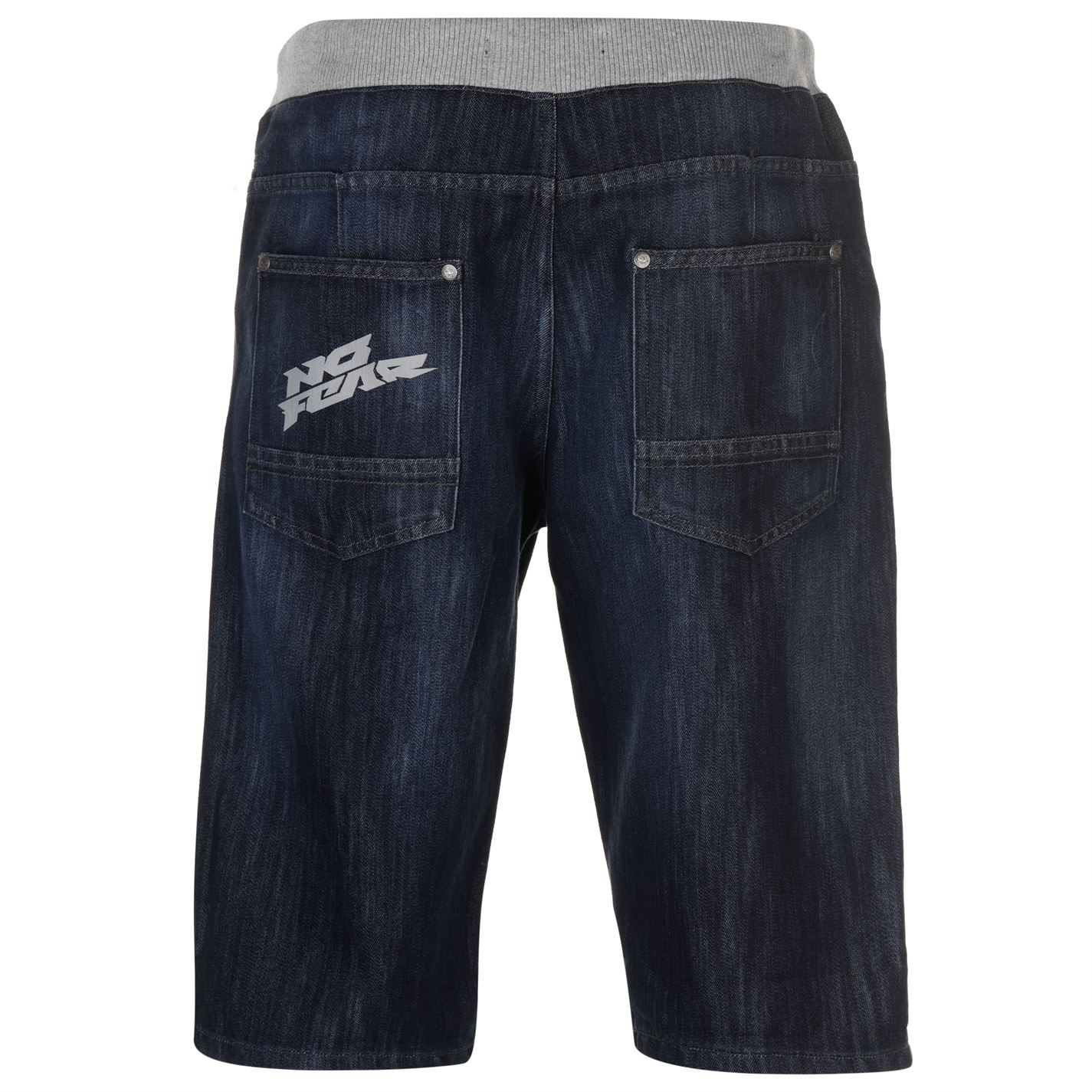 No-Fear-Mens-Denim-Shorts-Pants-Trousers-Bottoms-Zip-Warm-Drawstring-Elasticated thumbnail 4