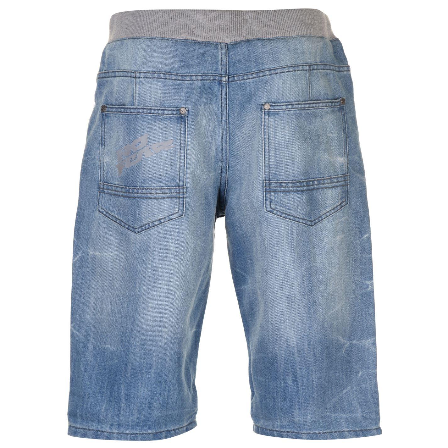 No-Fear-Mens-Denim-Shorts-Pants-Trousers-Bottoms-Zip-Warm-Drawstring-Elasticated thumbnail 7