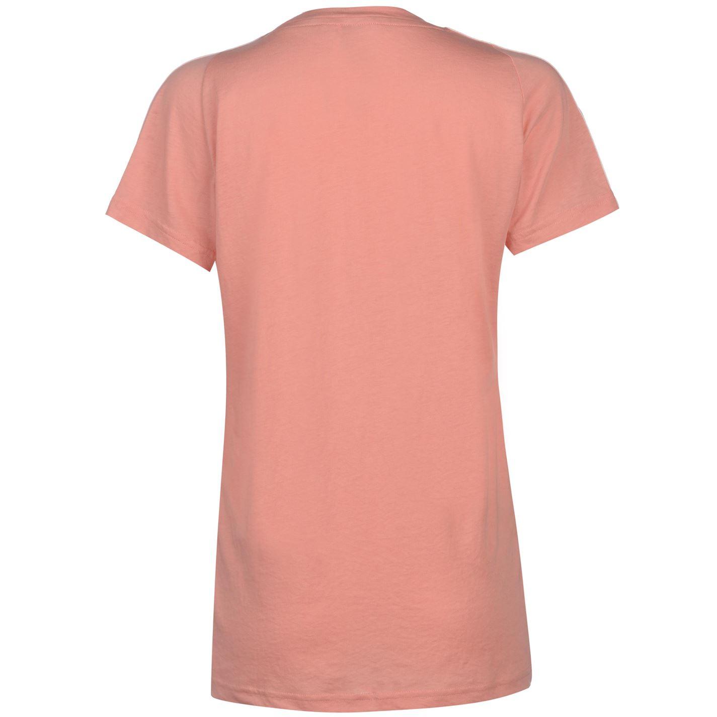 8ee87d7c063147 adidas Womens Essentials 3 Stripe T Shirt Crew Neck Tee Top Short ...