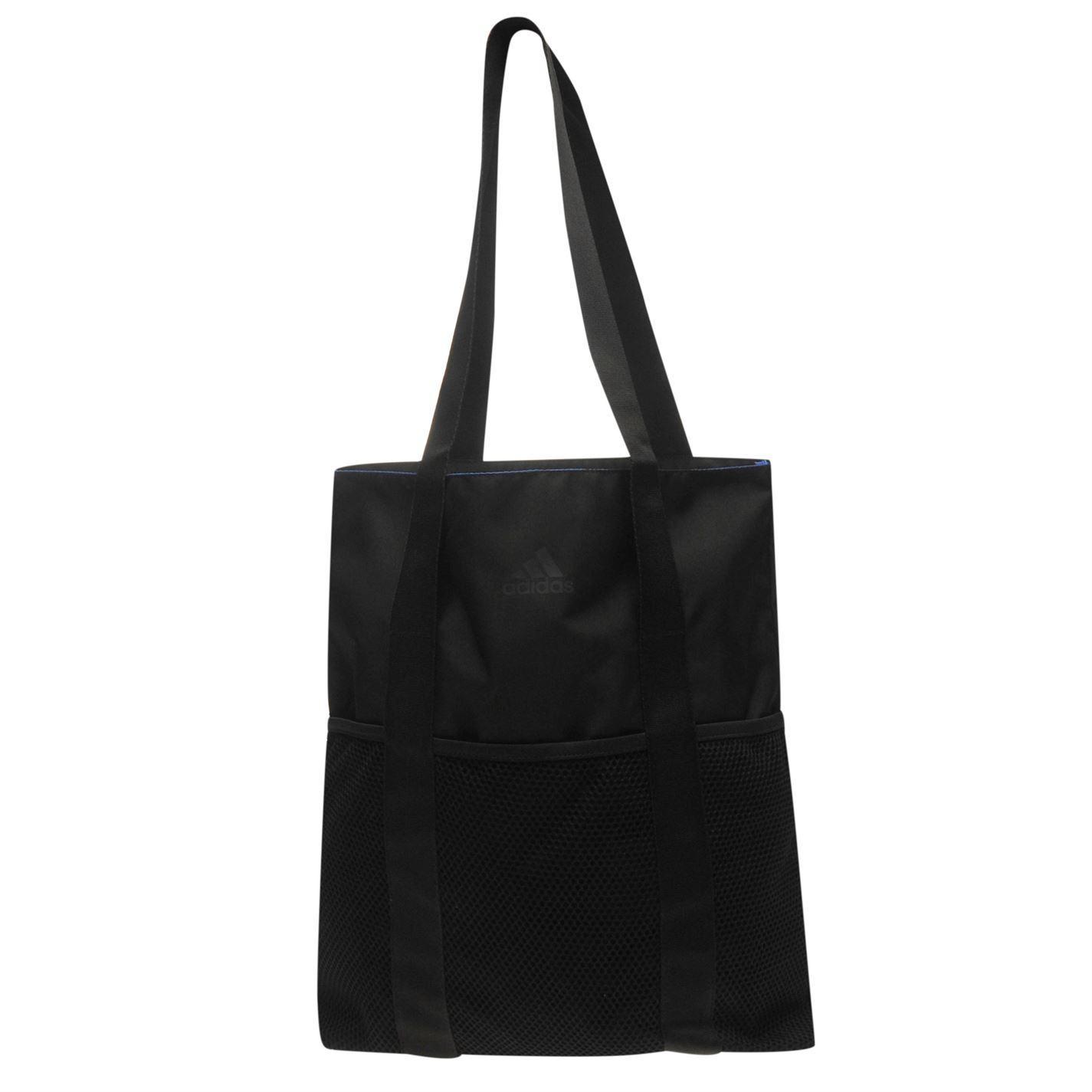 517df3201 Details about adidas Womens Shopper Bag Zip Mesh Pattern Sport