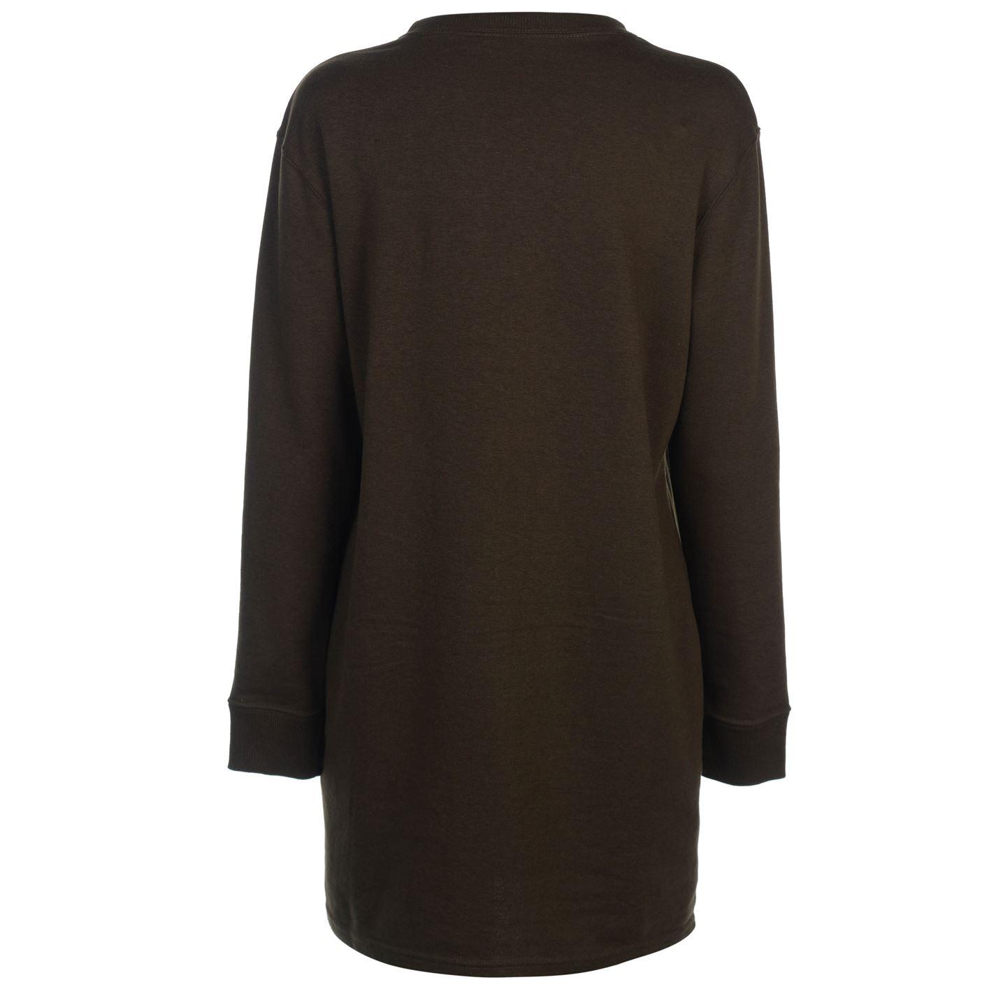 Golddigga Distressed Dress Ladies Crew Pullover Jumper Full Length Sleeve Neck