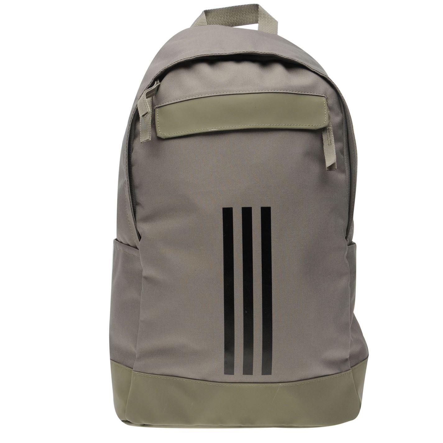 af01355404ba adidas Unisex Classic 3 Stripe Backpack Back Pack Zip Mesh
