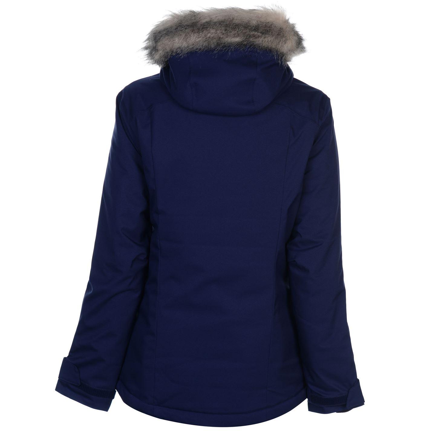 abe747c8c Salomon Rise Ski Jacket Ladies Coat Top Water Repellent Zip Zipped ...
