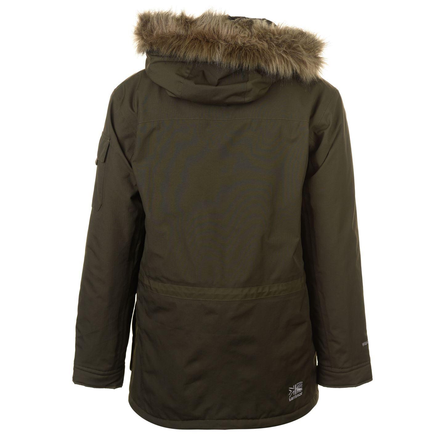 Karrimor-Herren-Parka-Jacke-Mantel-Oberteil-Chin-Guard-High-Neck-Hooded-Zip-voll-warm Indexbild 9