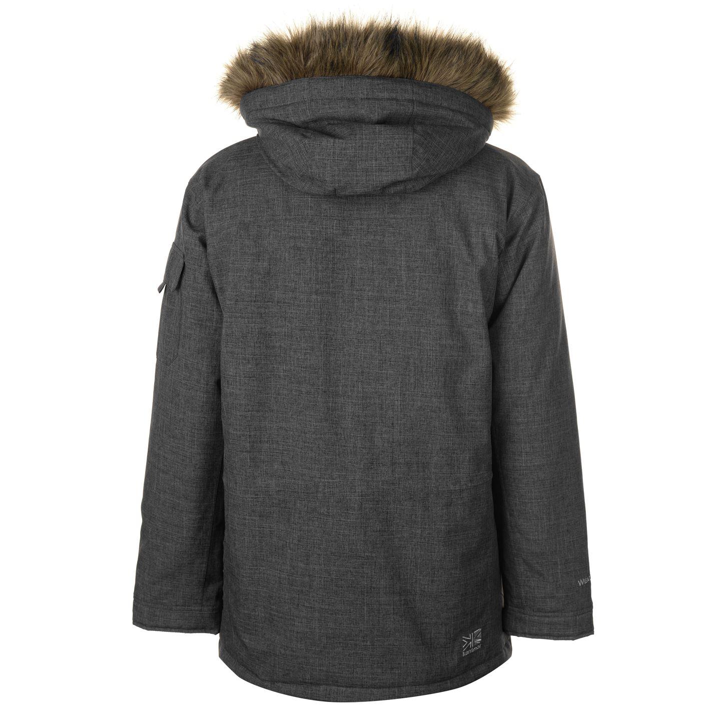 Karrimor-Herren-Parka-Jacke-Mantel-Oberteil-Chin-Guard-High-Neck-Hooded-Zip-voll-warm Indexbild 12