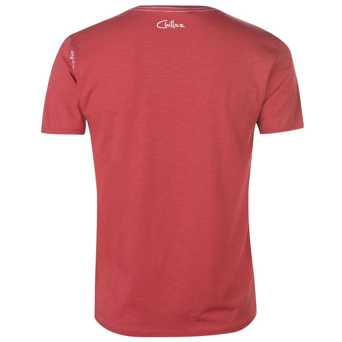 Korte T Rood Heren mouw Stempel Chillaz Ronde Top Heren shirt hals Performance Map Tee 5nORxX