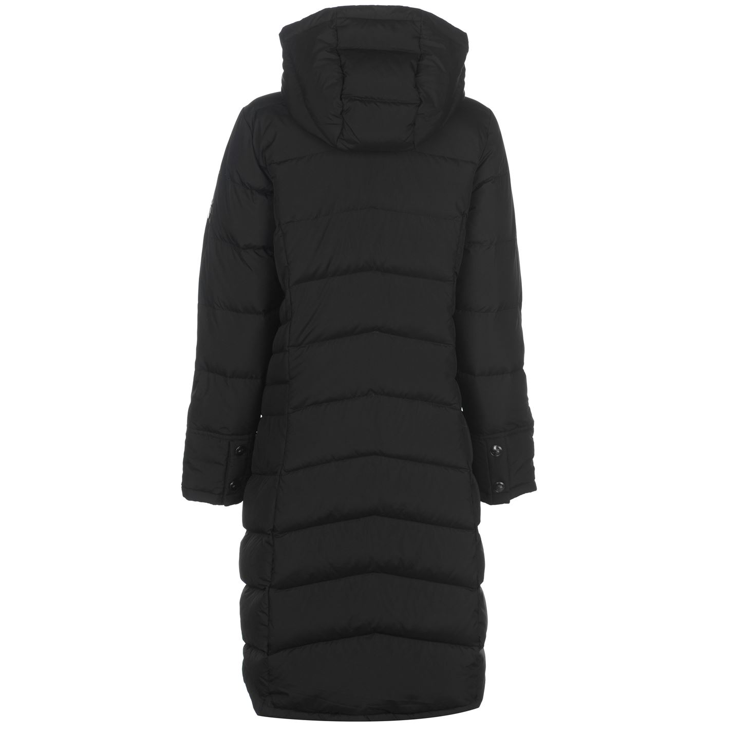 ce66cc17c Details about Karrimor Womens Long Down Jacket Puffer Coat Top Sleeve  Hooded Zip Full Outdoor