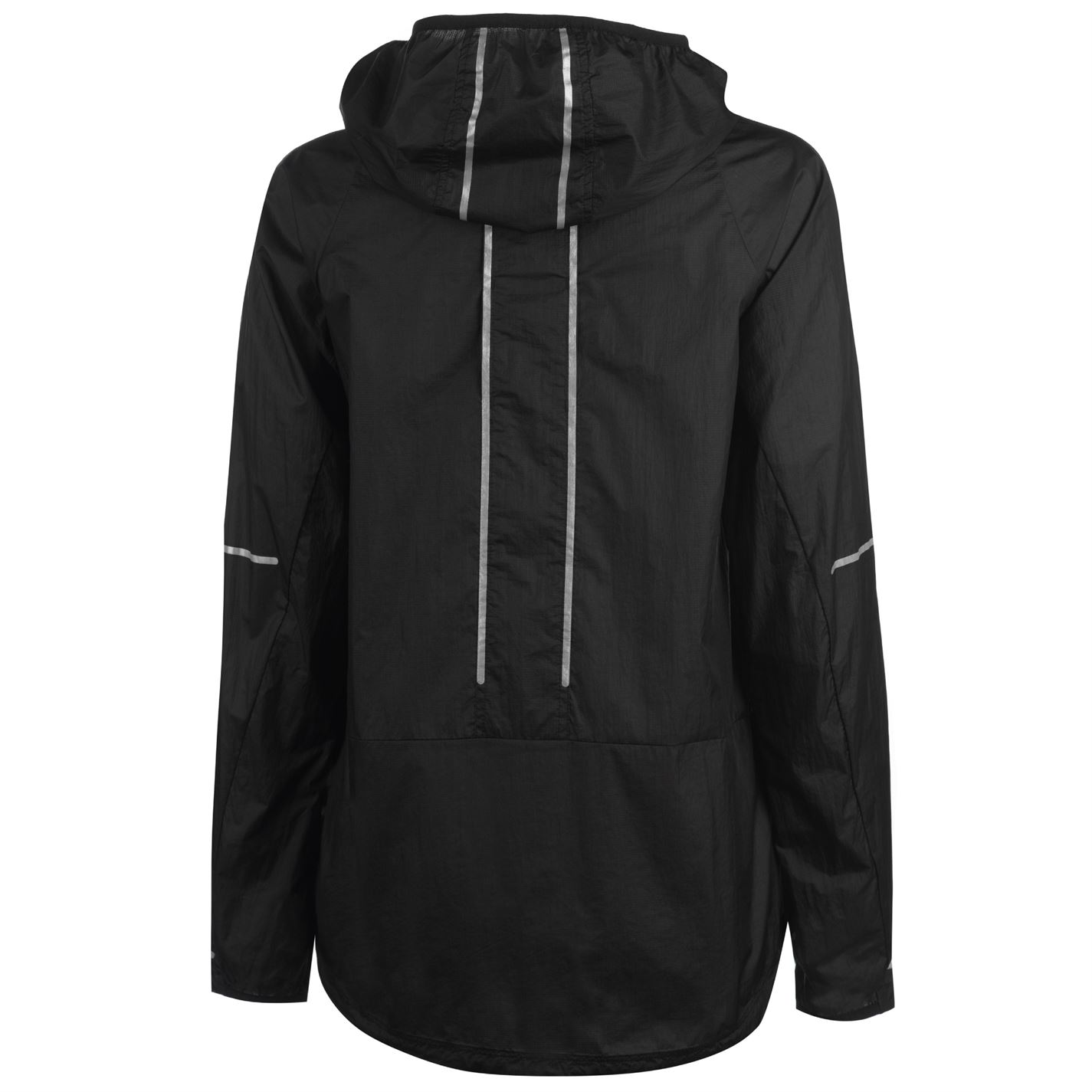 donna Sleeve Jacket Asics nero Sleeve Cappotto Full da Cw85q5