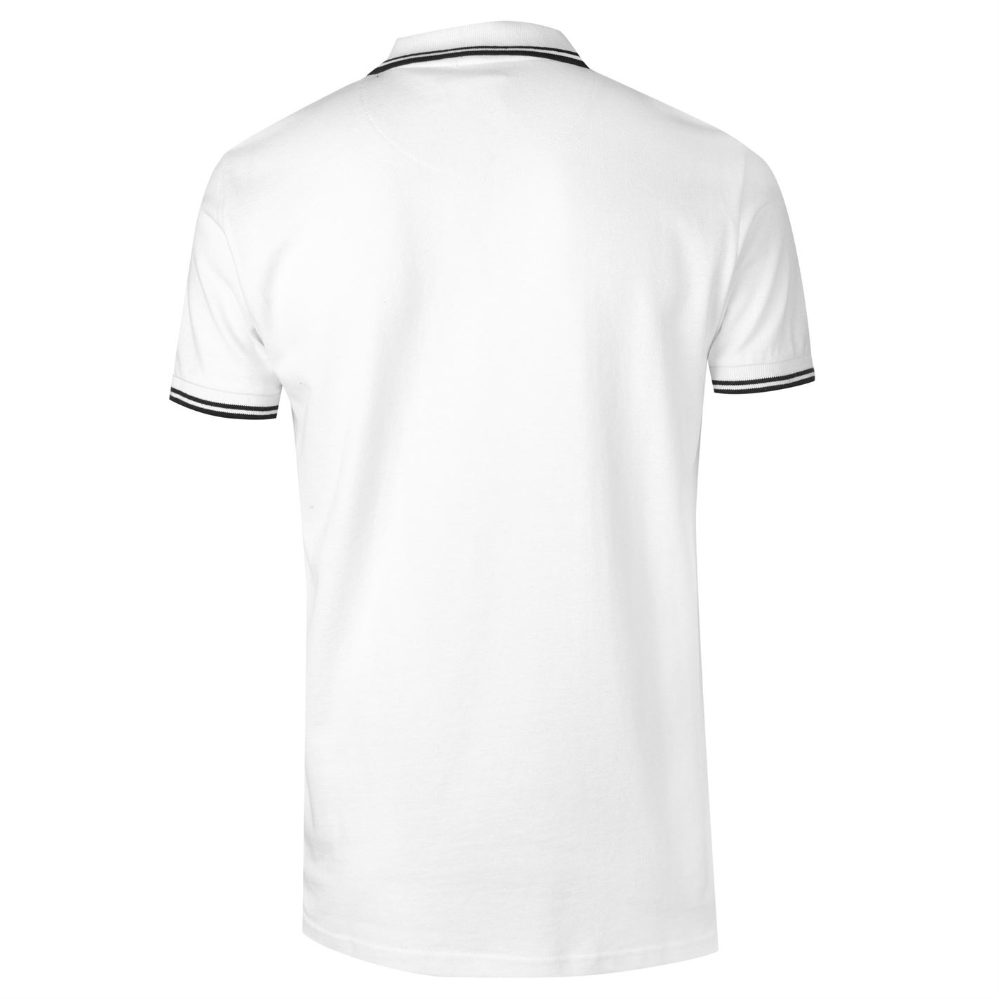VOI-Mens-Side-Logo-Polo-Shirt-Slim-Fit-Tee-Top-Short-Sleeve-Lightweight-Cotton thumbnail 4
