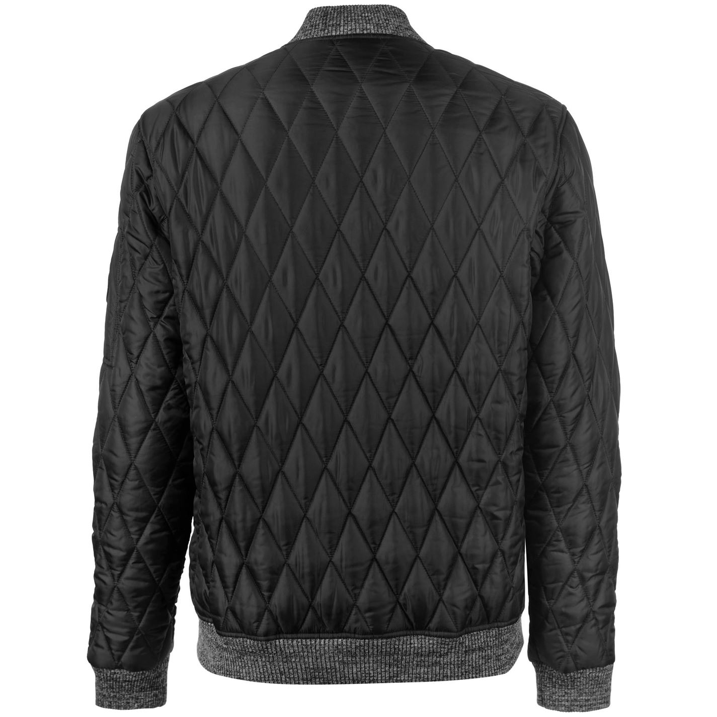 No-Fear-Quilted-Bomber-Jacket-Mens-Gents-Coat-Top-Full-Length-Sleeve-Zip-Zipped thumbnail 6
