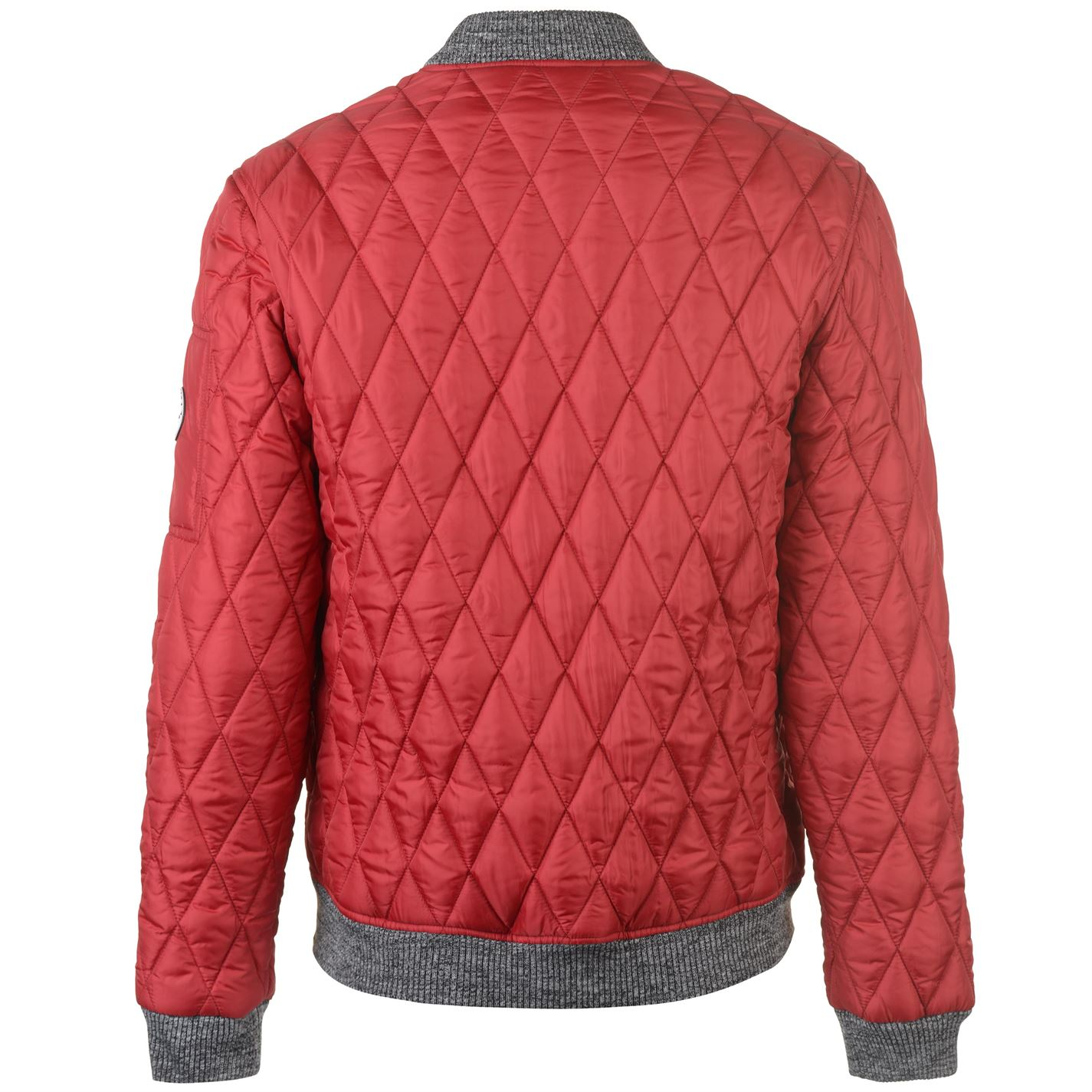 No-Fear-Quilted-Bomber-Jacket-Mens-Gents-Coat-Top-Full-Length-Sleeve-Zip-Zipped thumbnail 10