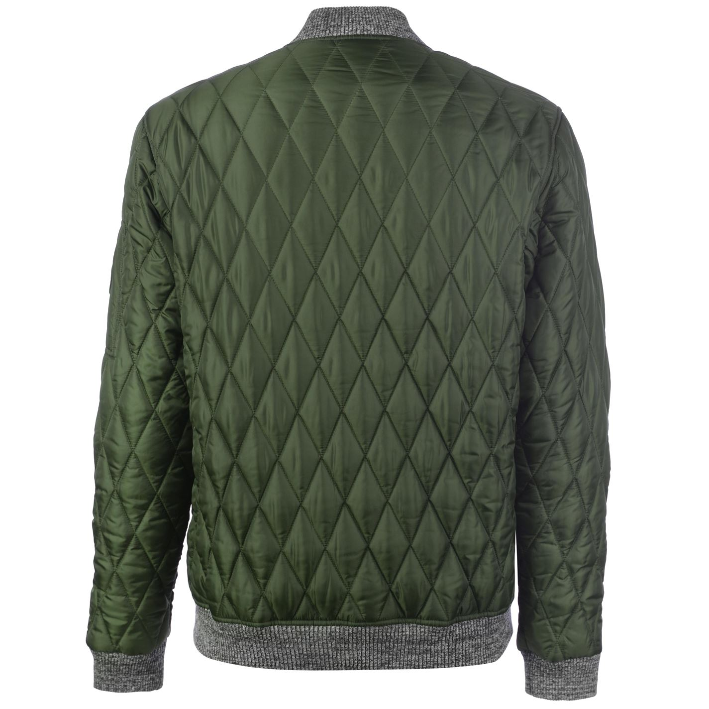 No-Fear-Quilted-Bomber-Jacket-Mens-Gents-Coat-Top-Full-Length-Sleeve-Zip-Zipped thumbnail 14