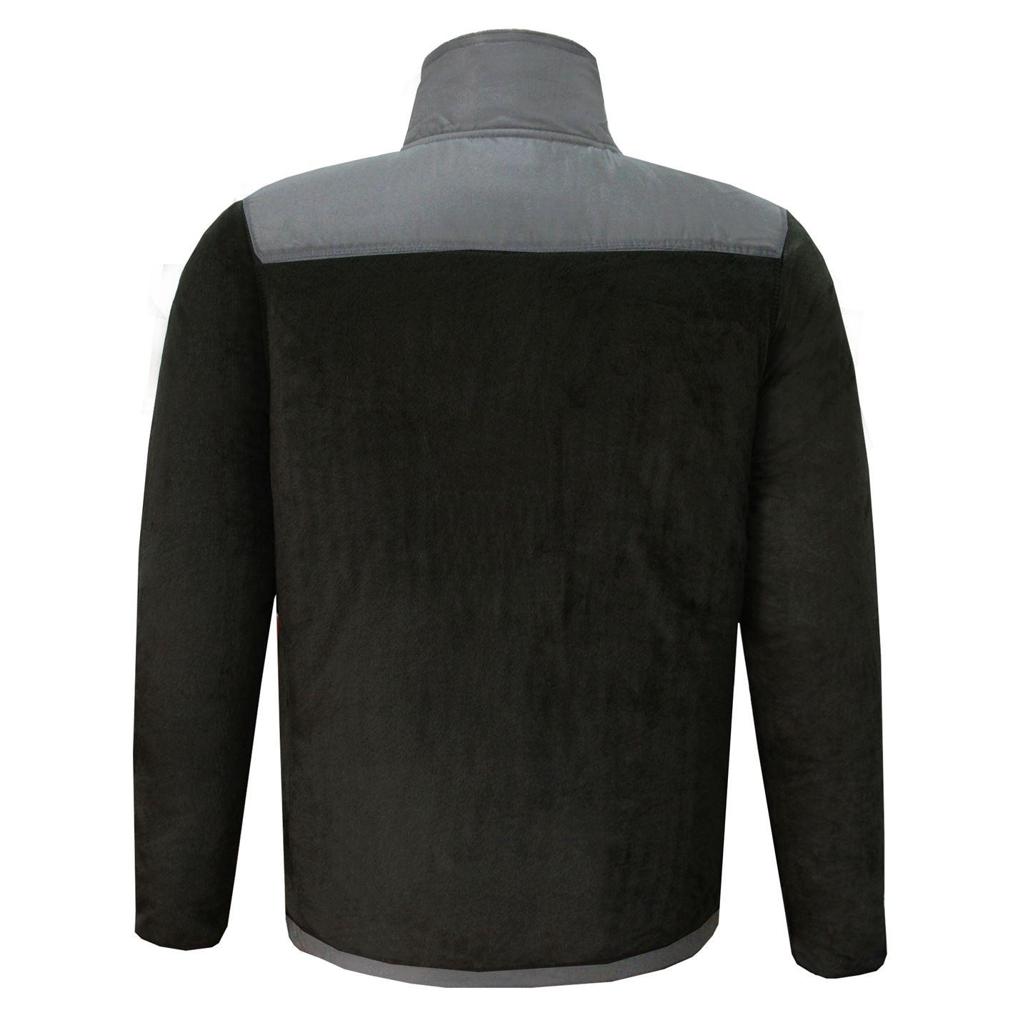 Lee-Cooper-Mens-Teddy-Fleece-Jacket-Full-Zip-Top-Coat-Sweatshirt-Jumper-Warm thumbnail 8