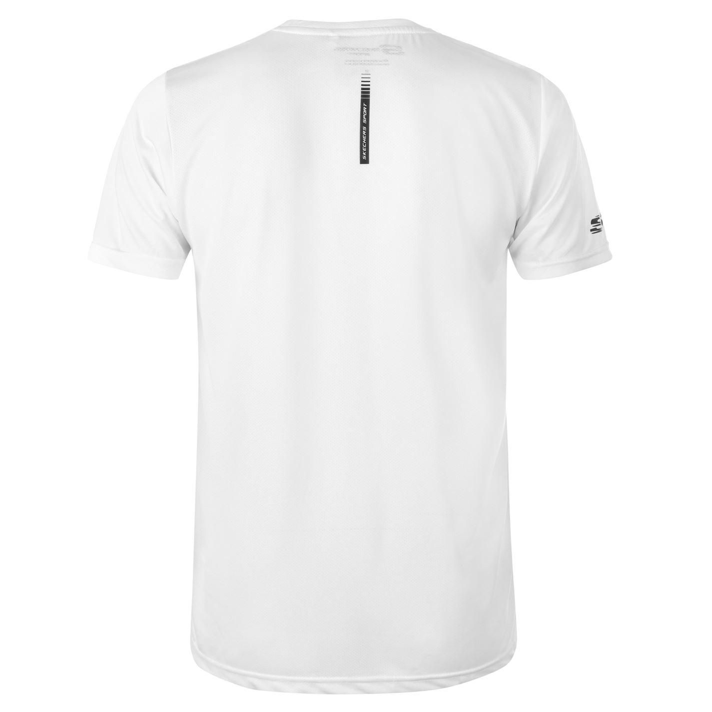 Skechers-Mens-Rendimiento-Grafico-camiseta-Manga-Corta-Camiseta-Top-Cuello-Redondo miniatura 6