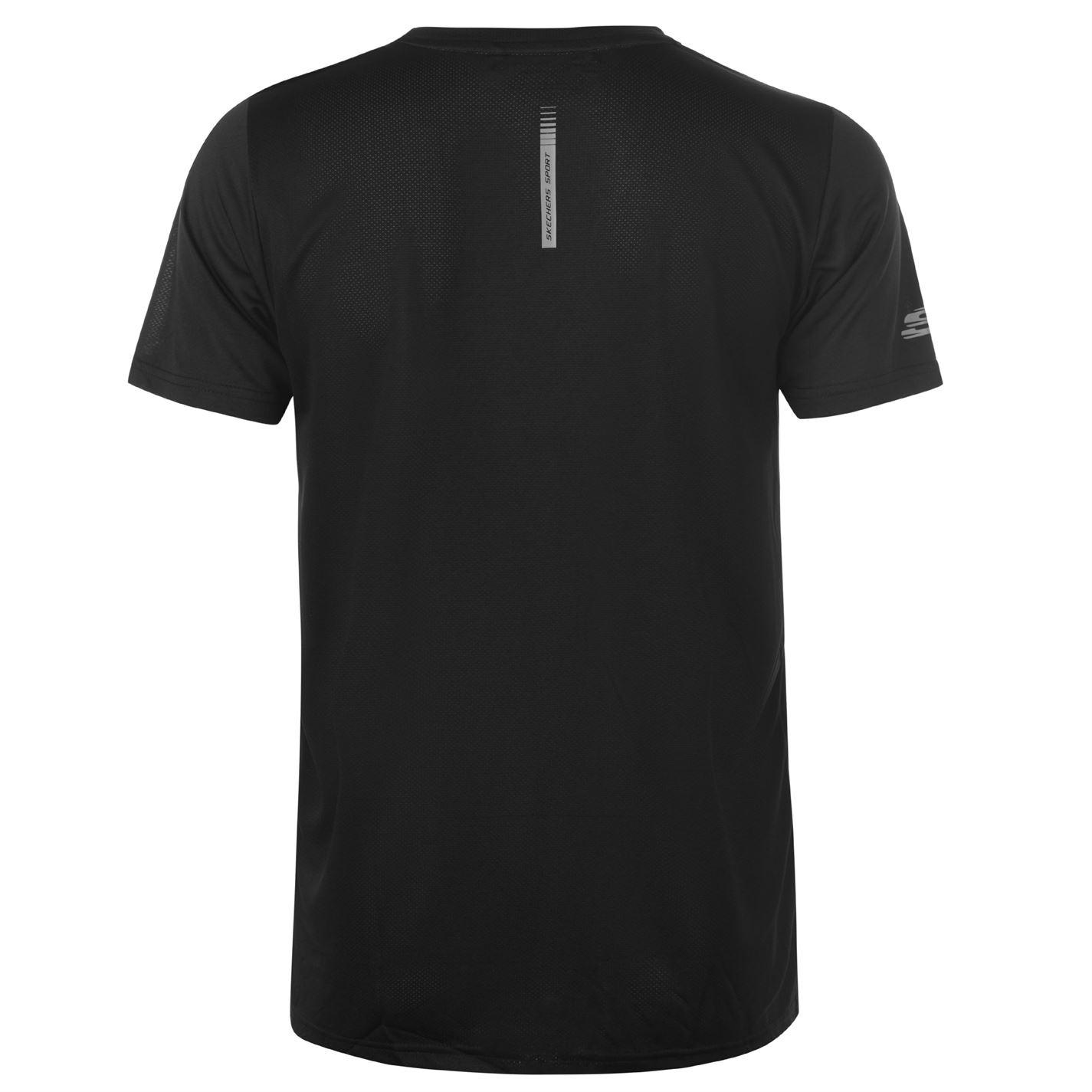 Skechers-Mens-Rendimiento-Grafico-camiseta-Manga-Corta-Camiseta-Top-Cuello-Redondo miniatura 9