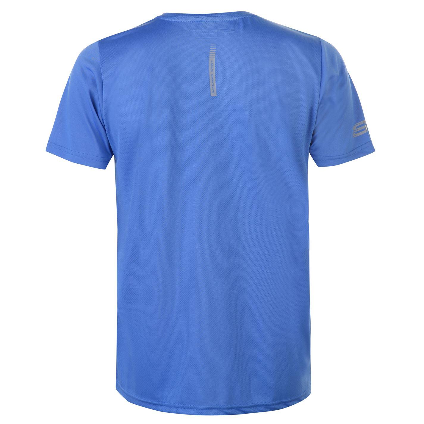 Skechers-Mens-Rendimiento-Grafico-camiseta-Manga-Corta-Camiseta-Top-Cuello-Redondo miniatura 12