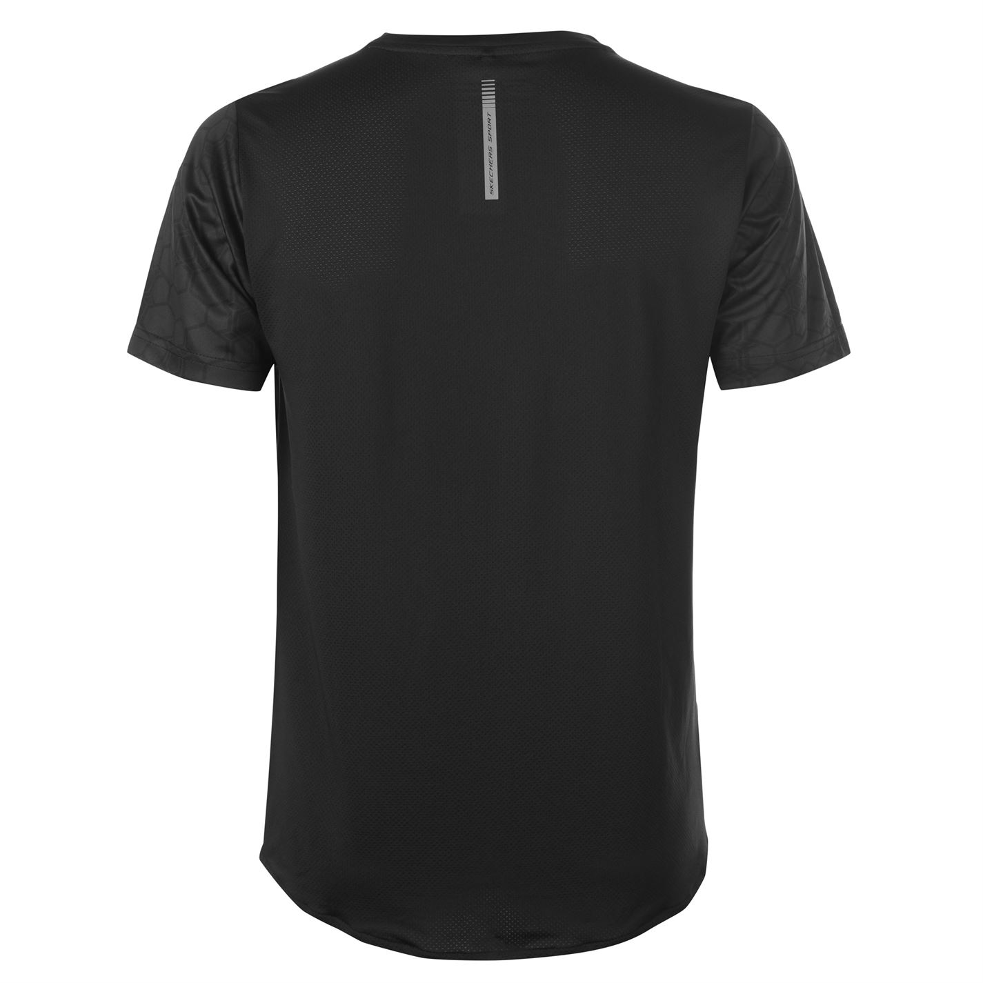 Skechers-Mens-Aop-Camiseta-Mangas-Cortas-Cuello-Redondo-Camiseta-Top-Performance miniatura 8