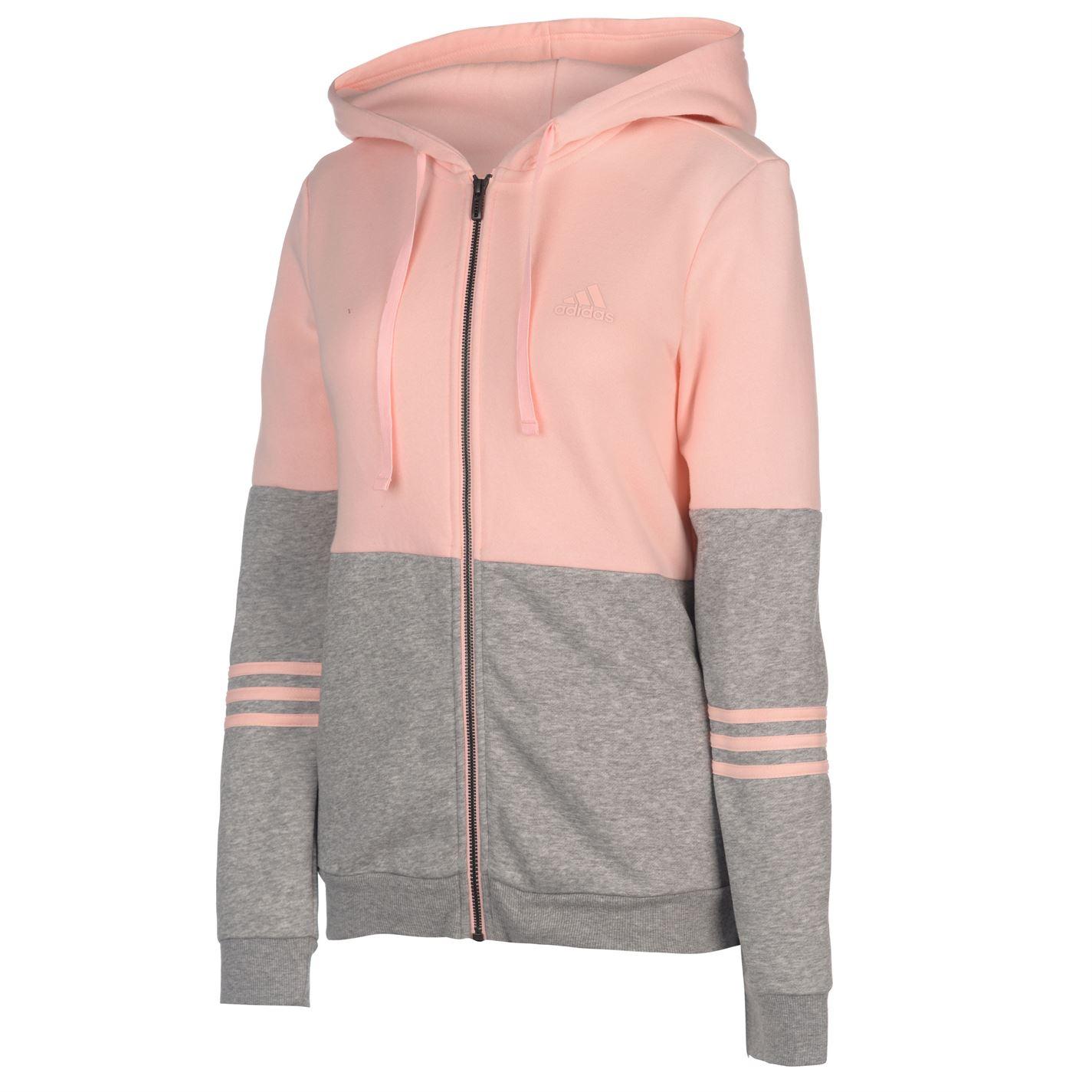 90ef7d57353 adidas Energize Tracksuit Ladies Fleece Full Length Sleeve Hooded ...