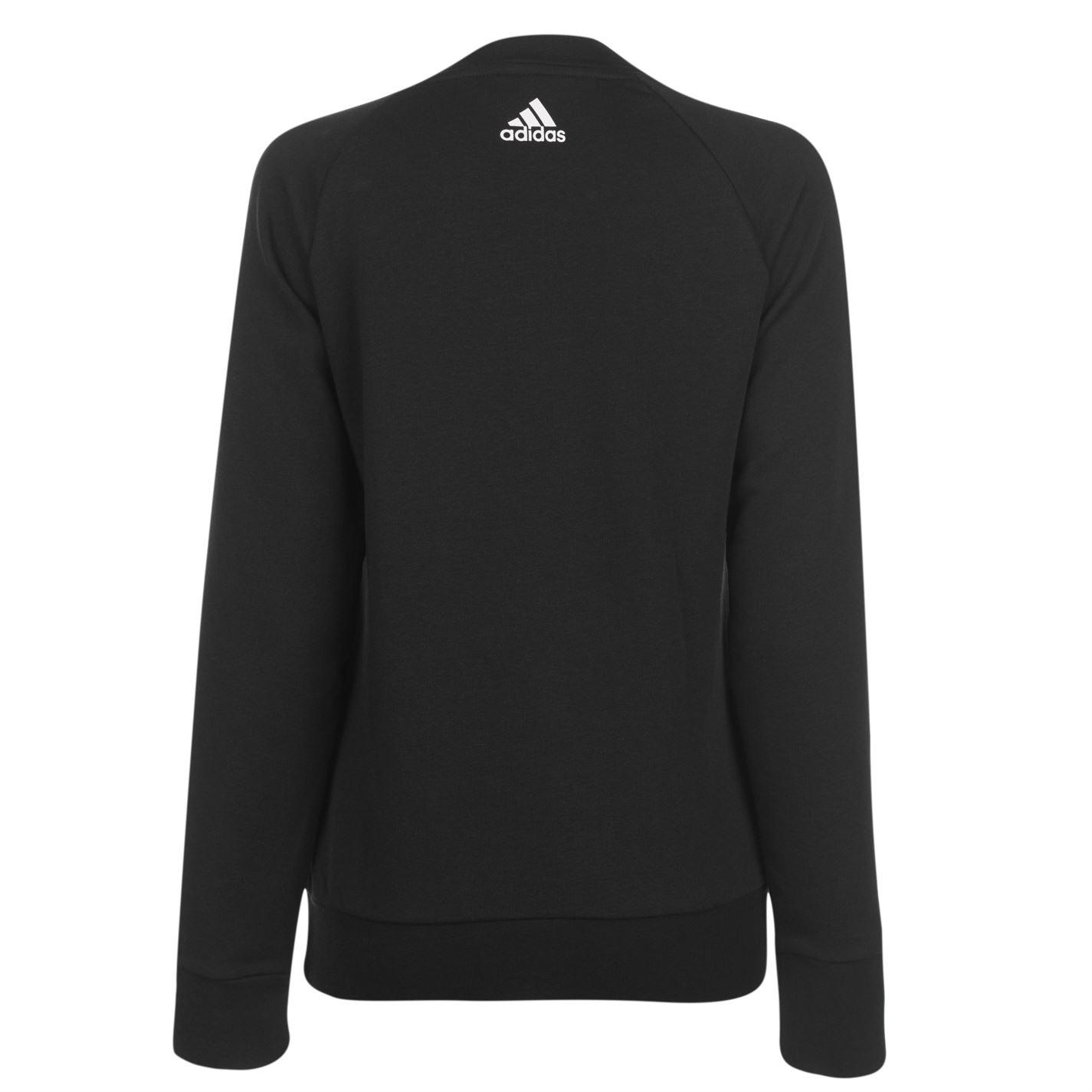 ADIDAS Da Donna Girocollo Felpa Maglione T Shirt Top Maglione Pullover Lungo | eBay