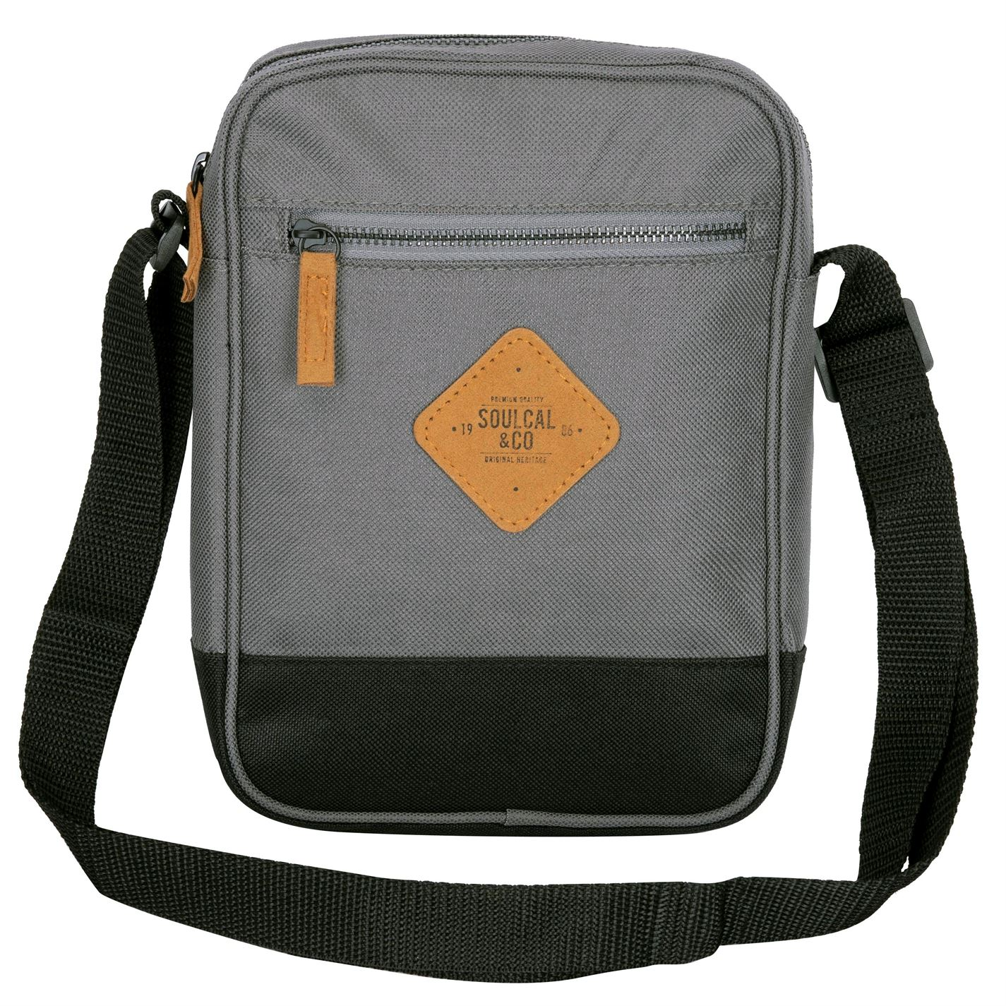 Unisex-SoulCal-Mini-Gadget-Bag-Zip-New thumbnail 4