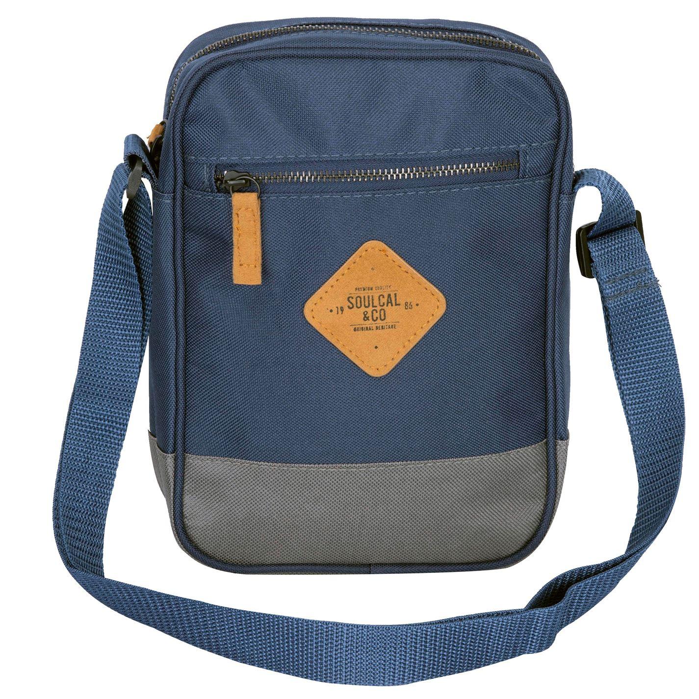 Unisex-SoulCal-Mini-Gadget-Bag-Zip-New thumbnail 10