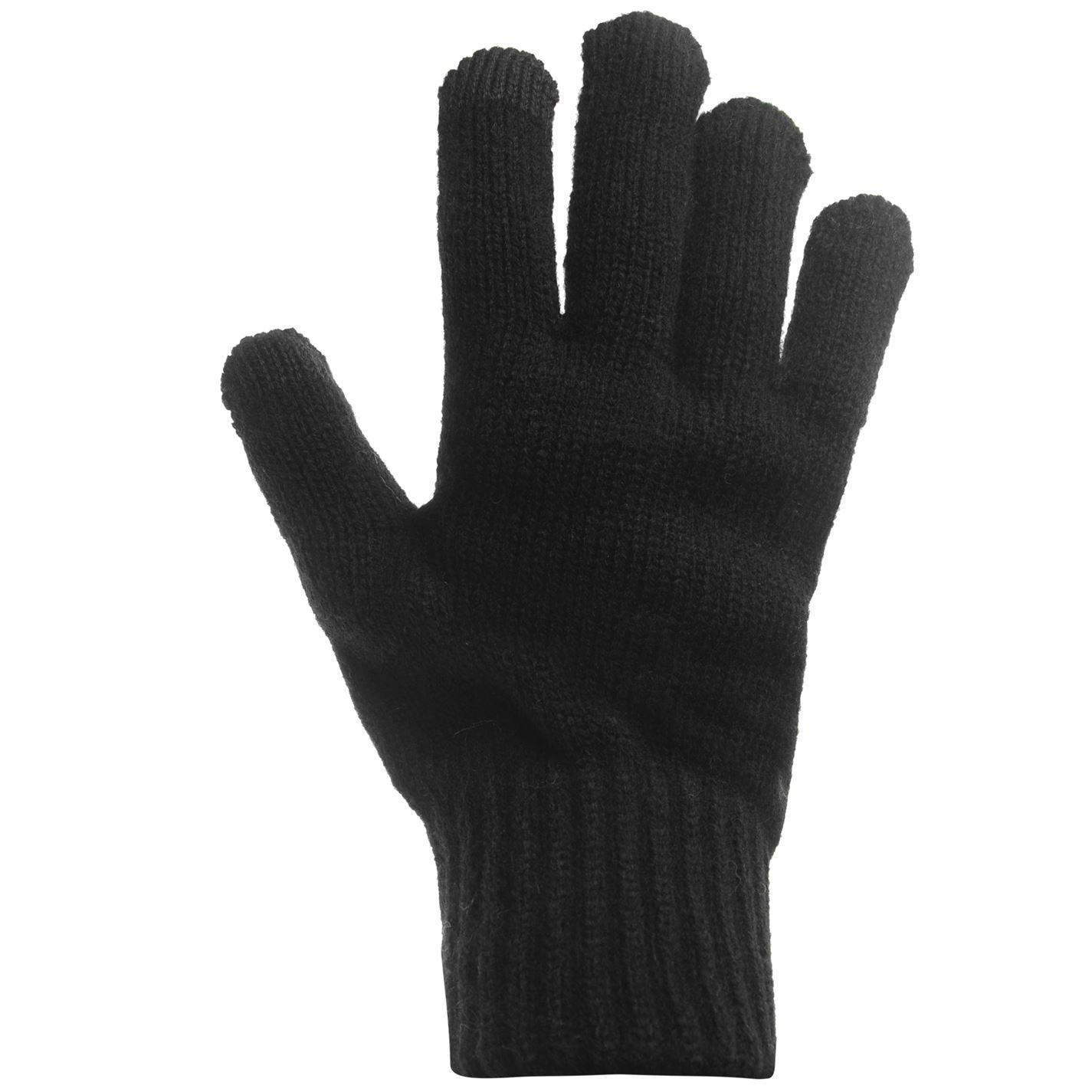 Mens-Jack-and-Jones-Melange-Gloves-Knitted-New thumbnail 7