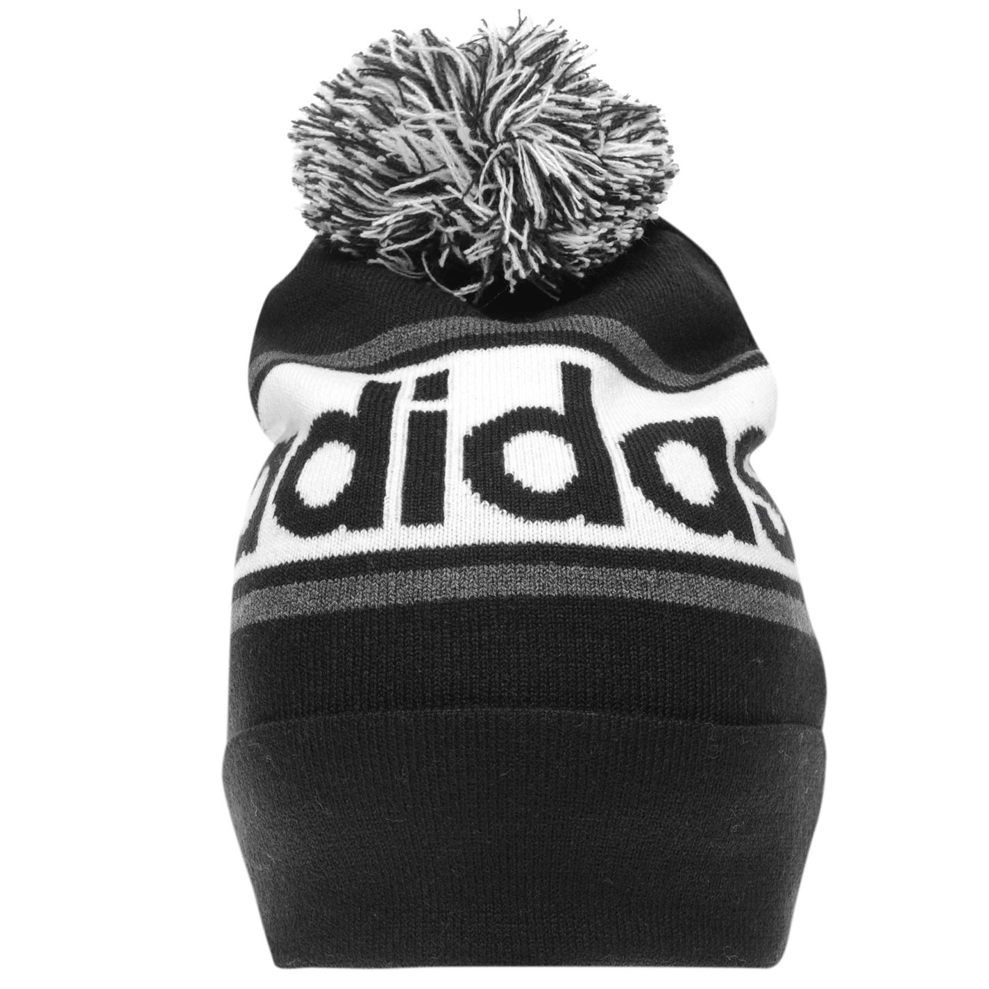 adidas Mens Linear Woolie Hat Beanie Pattern Stripe Winter Warm ... 65fdfed2741