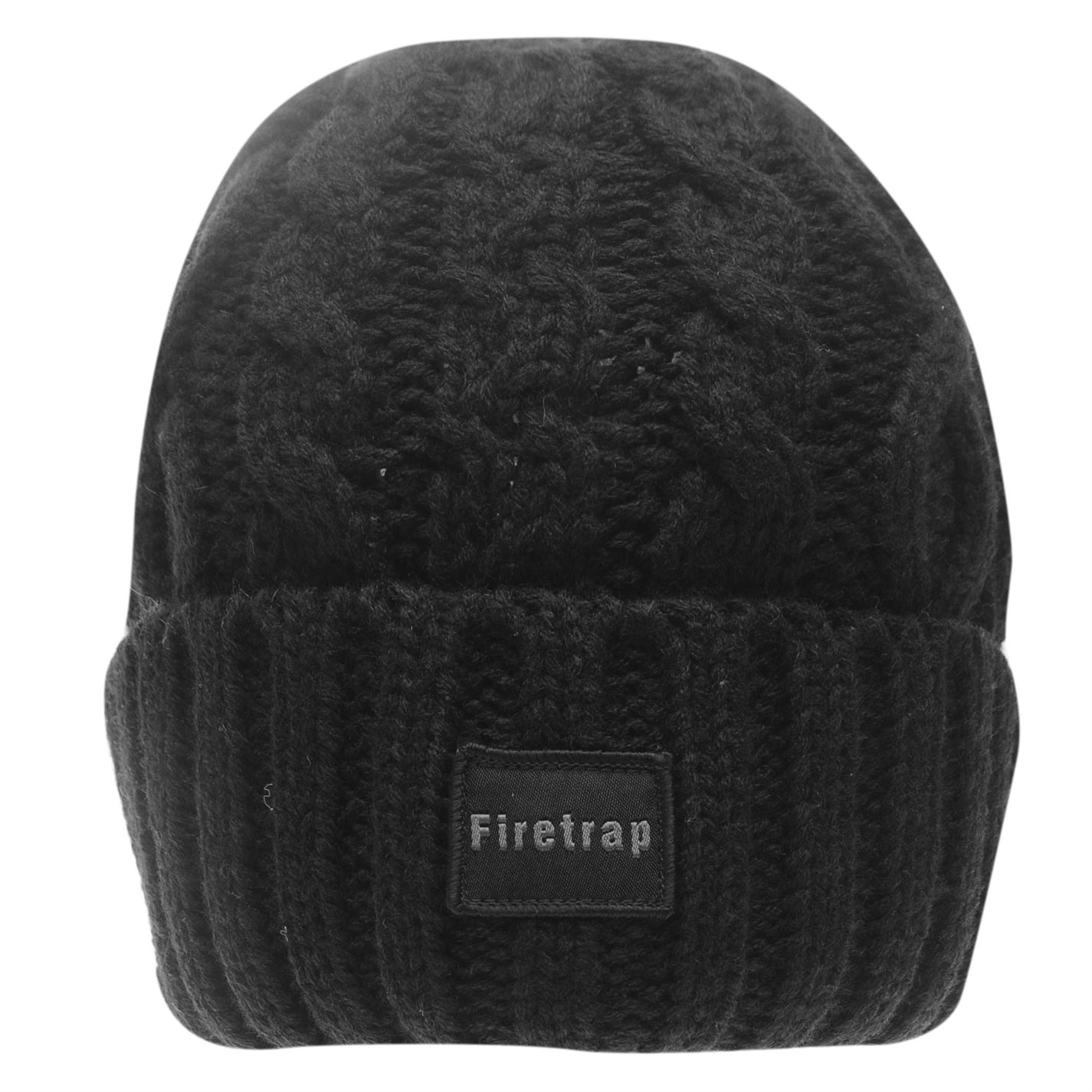 Mens-Firetrap-Cable-Beanie-Pattern-New thumbnail 6