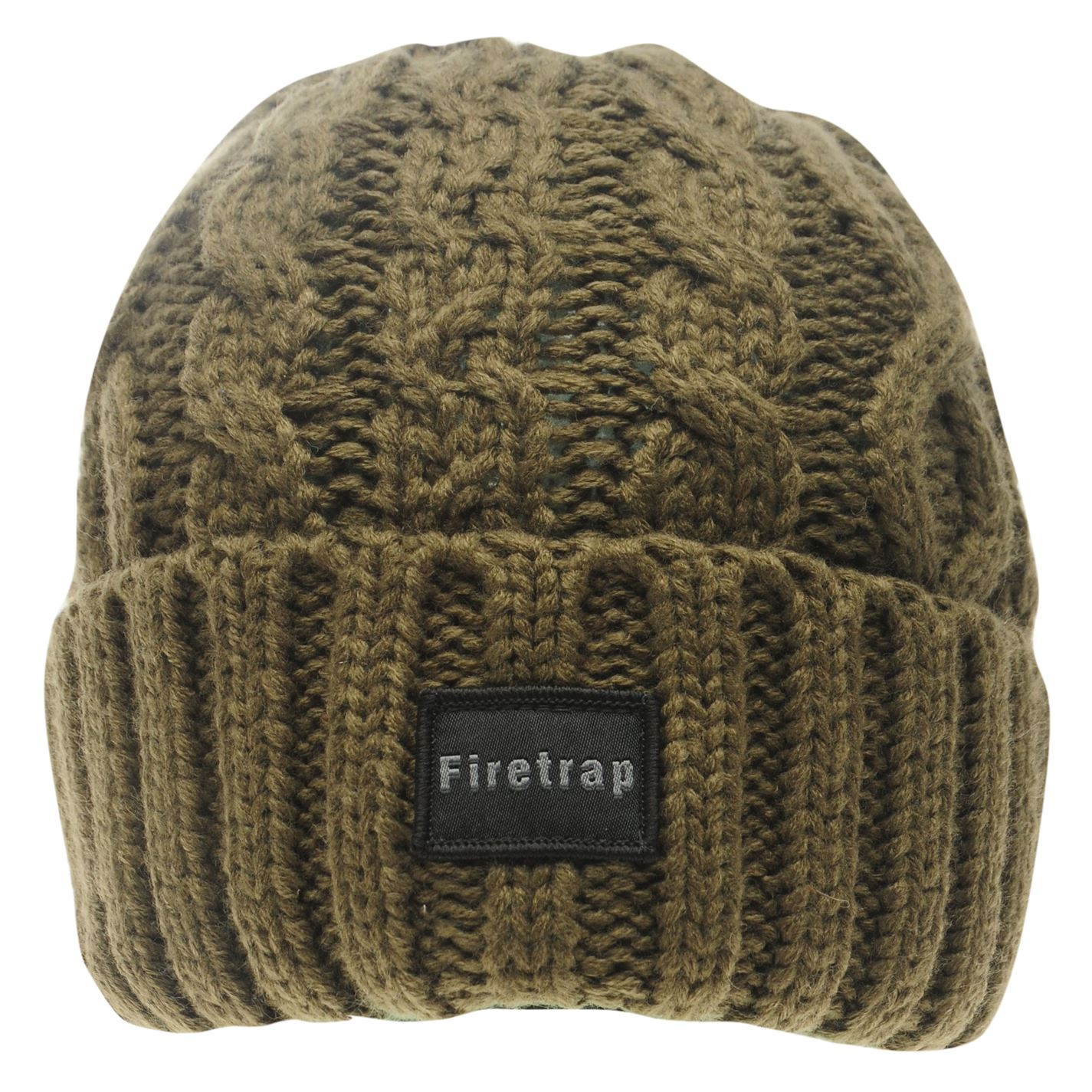 Mens-Firetrap-Cable-Beanie-Pattern-New thumbnail 9