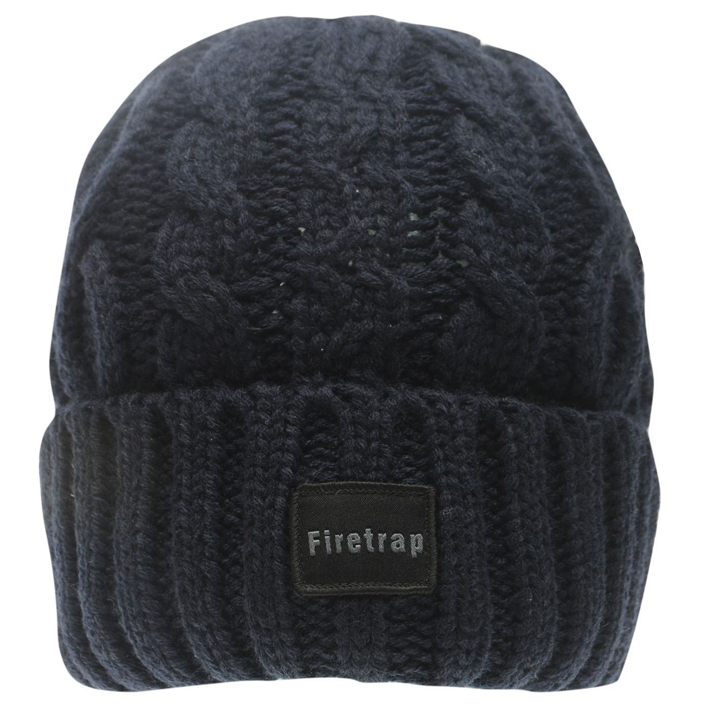 Mens-Firetrap-Cable-Beanie-Pattern-New thumbnail 12