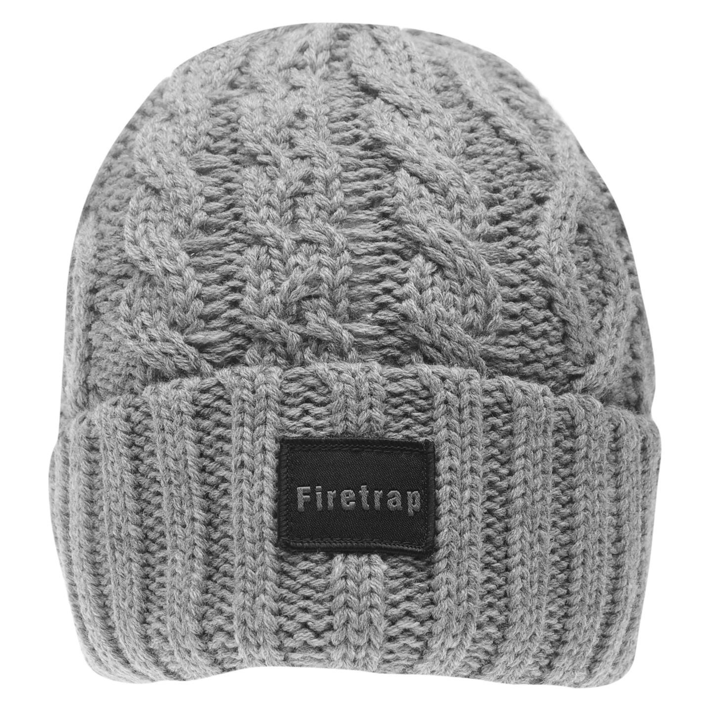 Mens-Firetrap-Cable-Beanie-Pattern-New thumbnail 15