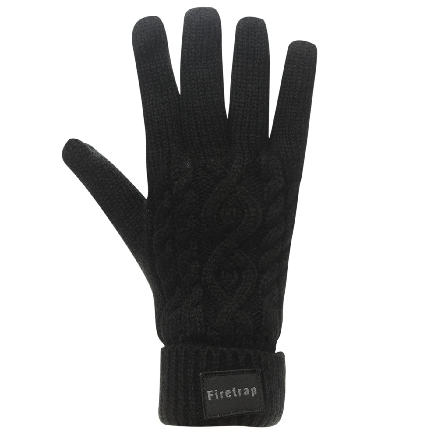 Mens-Firetrap-Cable-Knit-Gloves-Knitted-Winter-New thumbnail 7