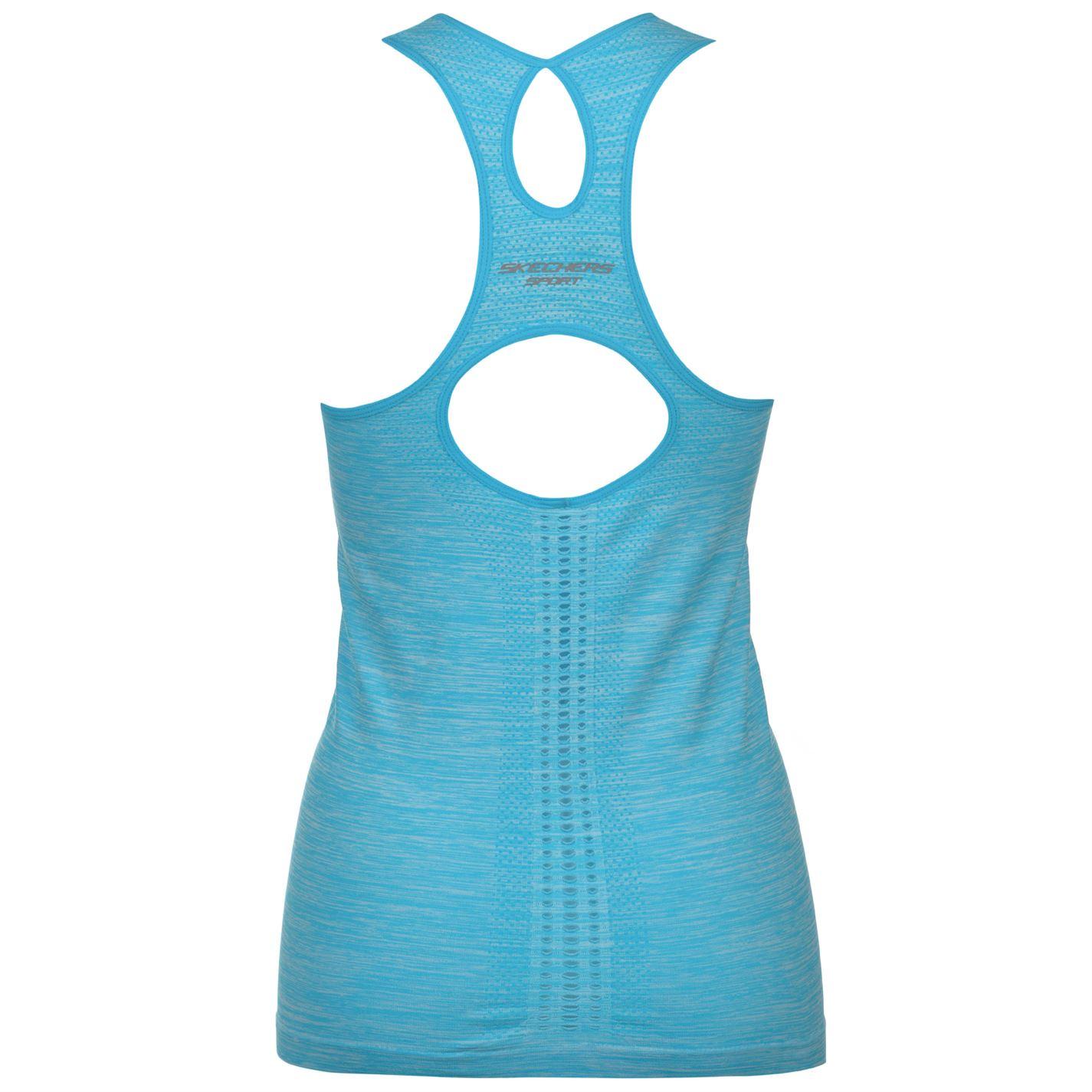 Skechers-Para-Mujer-smls-Chaleco-Tapa-del-tanque-de-rendimiento miniatura 4