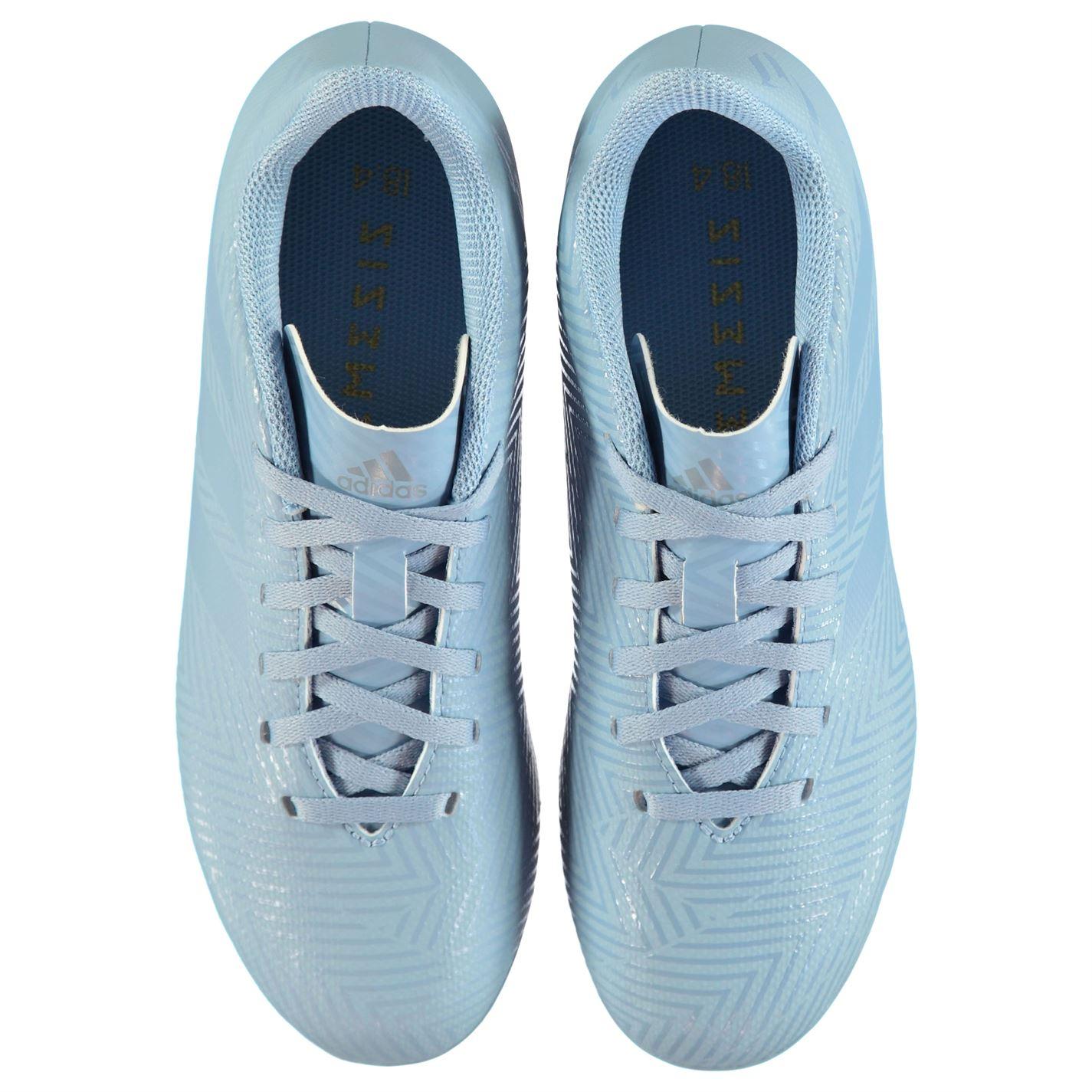 Adidas-Kids-Boys-Nemeziz-Messi-18-4-Junior-FG-Football-Boots-Firm-Ground-Lace-Up thumbnail 5