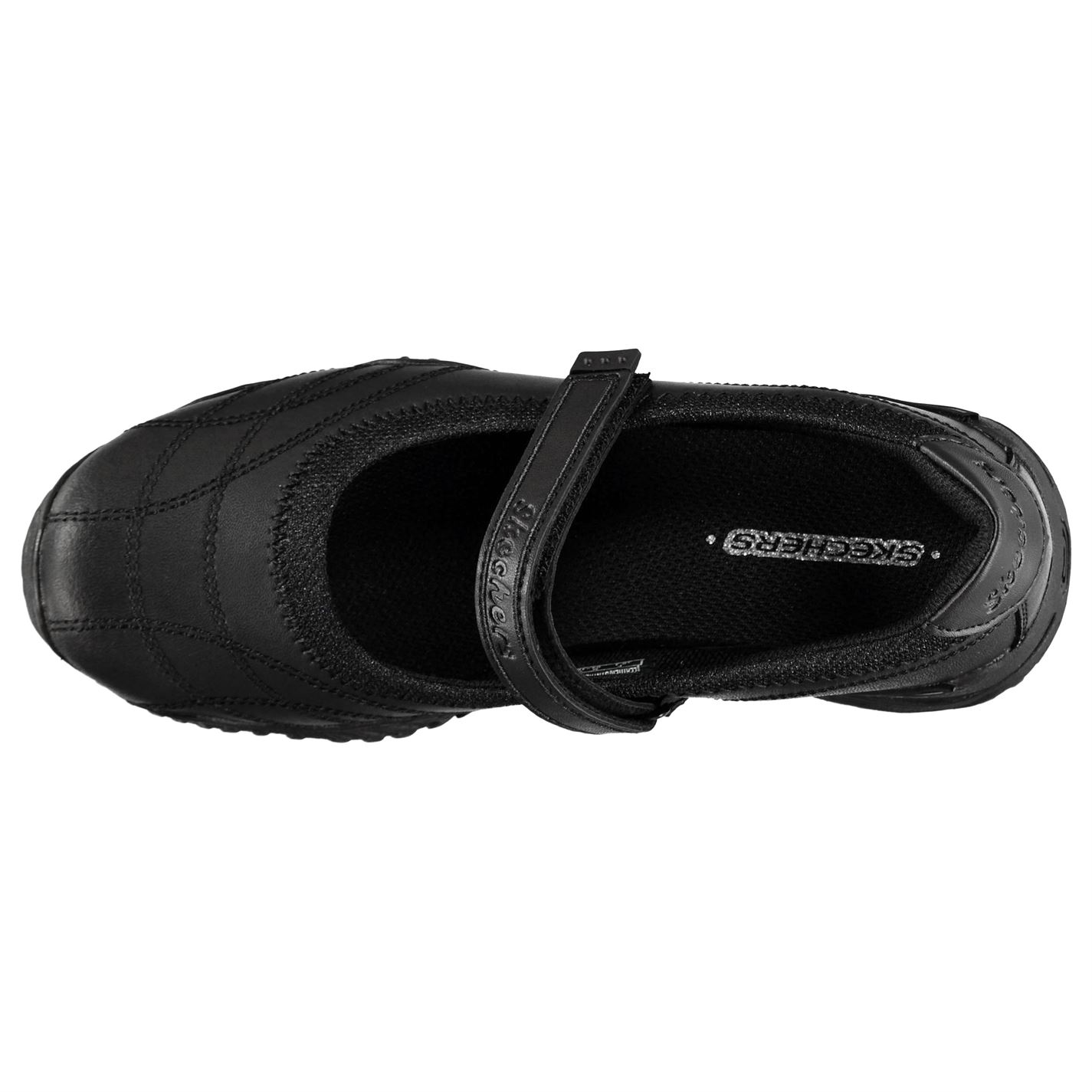 School Mary Strap Janes Forefoot Jane Black Youngster Girls Lightweight Zapatos Skechers 5RqEfyB